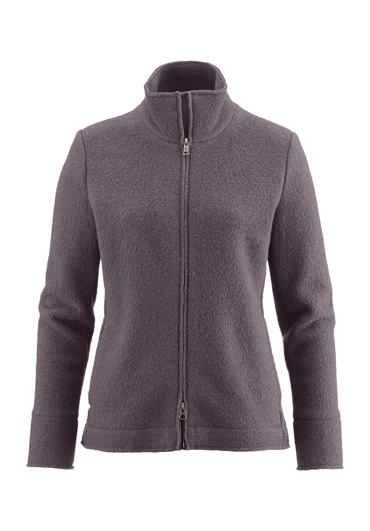 hessnatur Outdoor Damen Walkjacke aus Schurwolle – lila – Größe 34 | Sportbekleidung > Sportjacken > Outdoorjacken | Graulila | Schurwolle | hessnatur