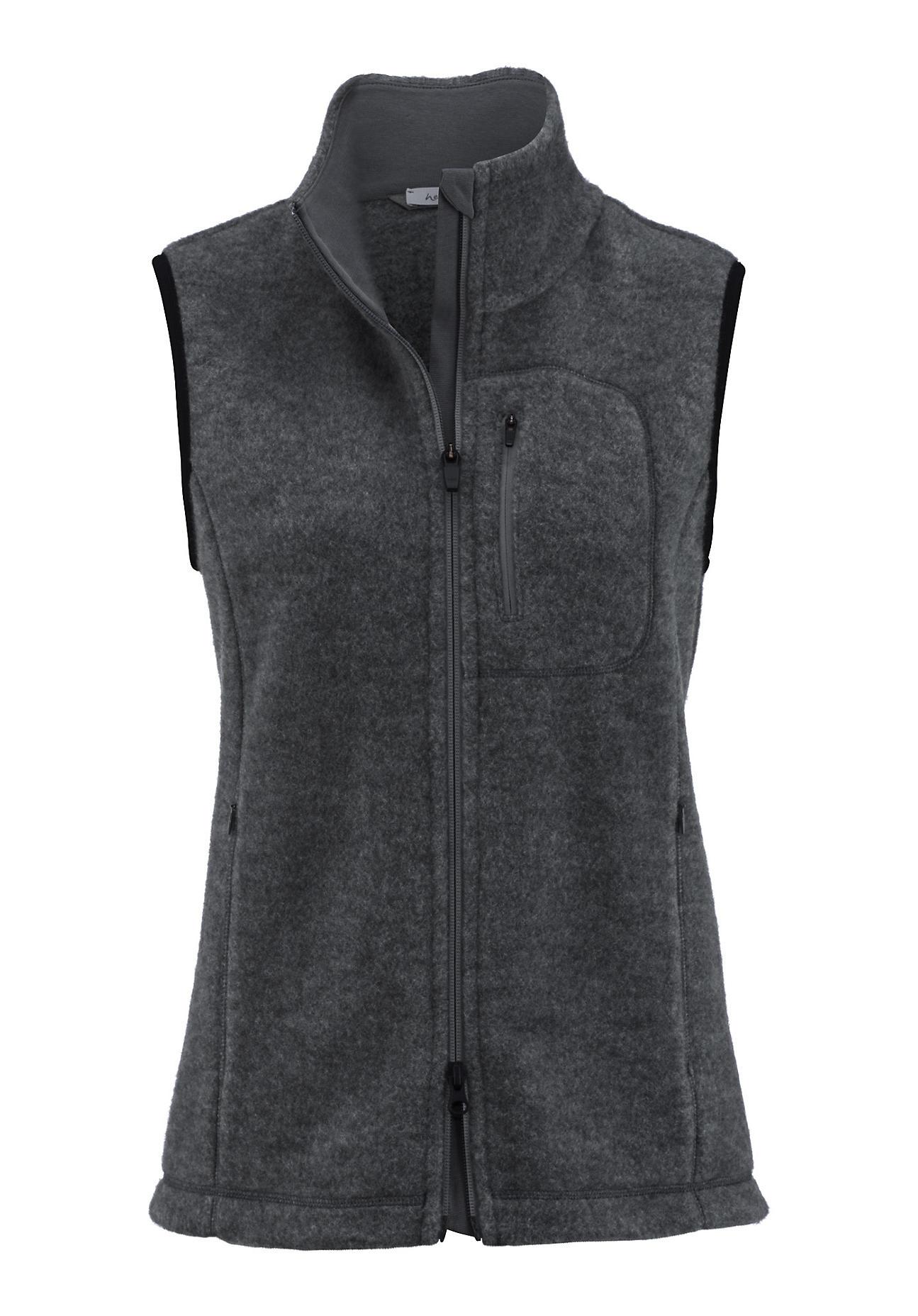 hessnatur Outdoor Damen Wollfleece Weste aus Schurwolle – grau – Größe 42 | Sportbekleidung > Sportwesten > Outdoorwesten | Anthrazit | Schurwolle - Jersey | hessnatur