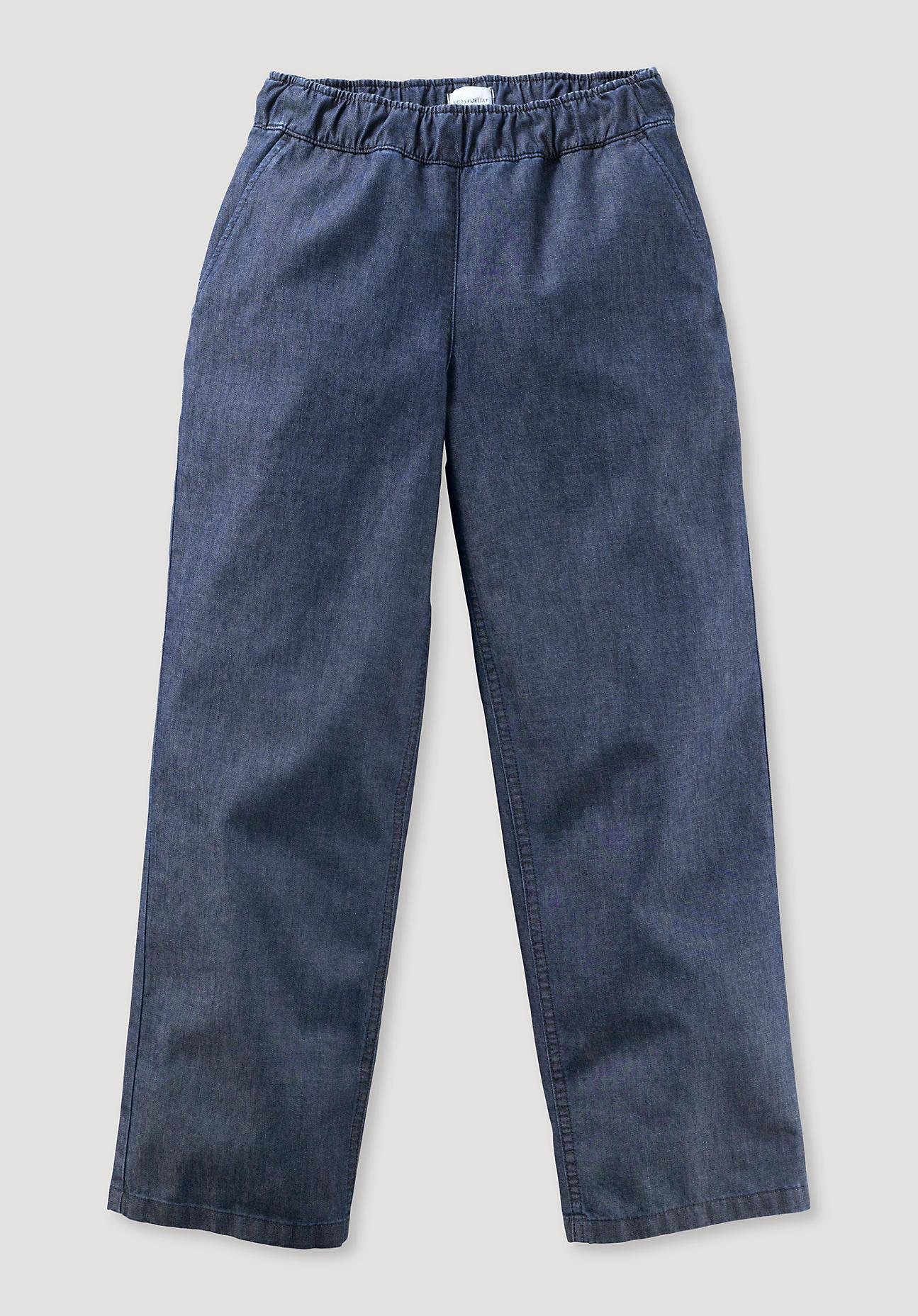 hessnatur Kinder Denim-Hose aus Bio-Baumwolle - blau Größe 140