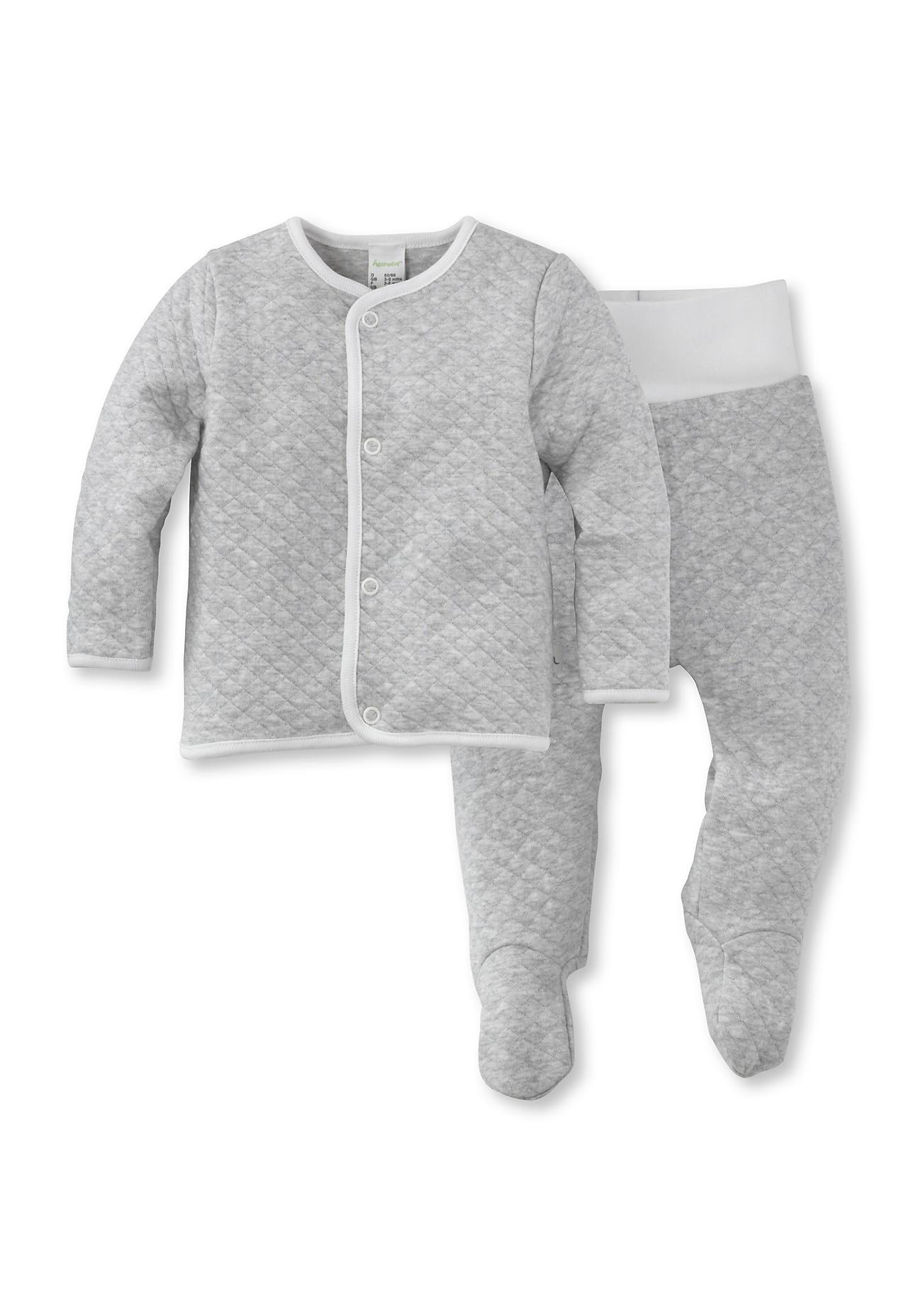 Image of hessnatur Baby Erstausstattung aus Baumwolle – grau – Größe 50/56