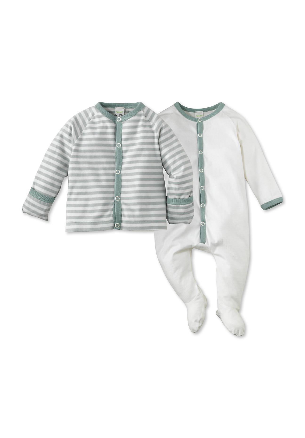 Image of hessnatur Baby Erstausstattung aus Bio-Baumwolle – grün – Größe 50/56