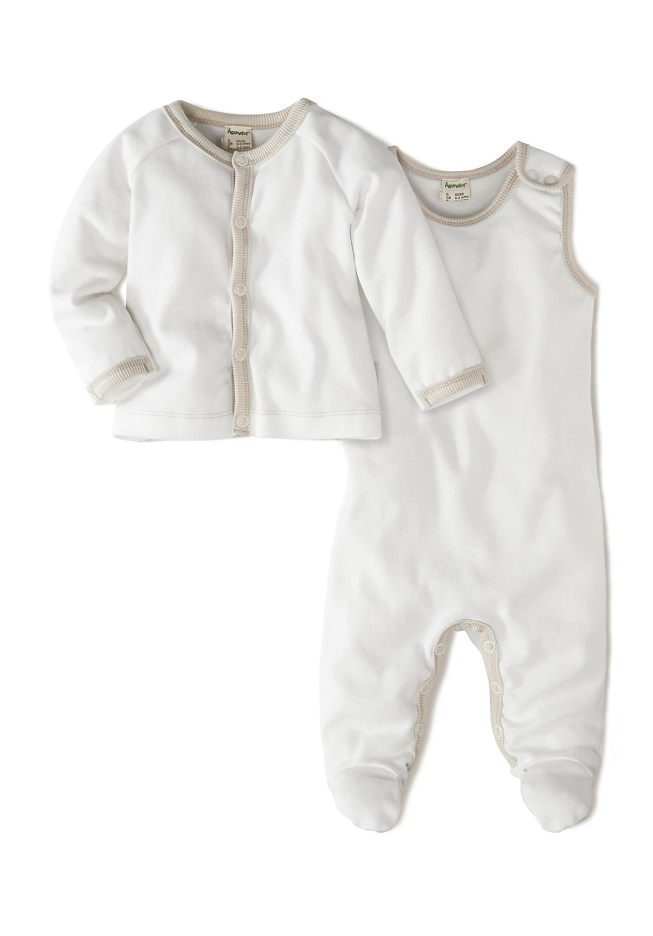 Image of hessnatur Baby Erstlingsausstattung aus Bio-Baumwolle – weiß – Größe 50/56