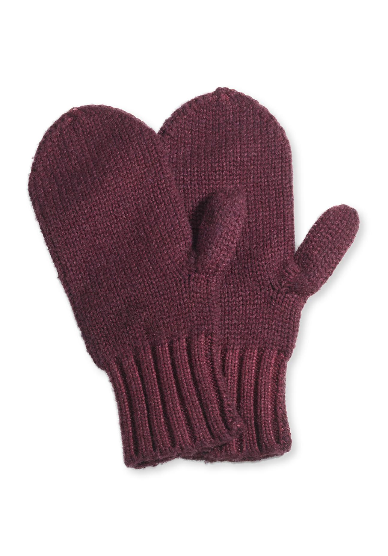 Handschuhe für Frauen - hessnatur Damen Fäustlinge aus Schurwolle – rot –  - Onlineshop Hessnatur