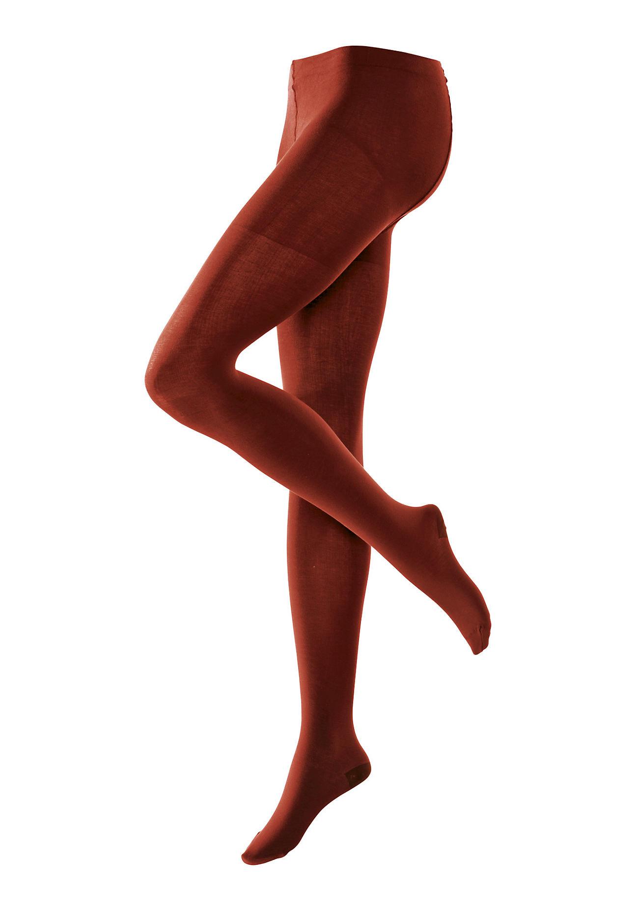 Strumpfhosen für Frauen - hessnatur Feinstrumpfhose aus Bio Baumwolle – rot –  - Onlineshop Hessnatur