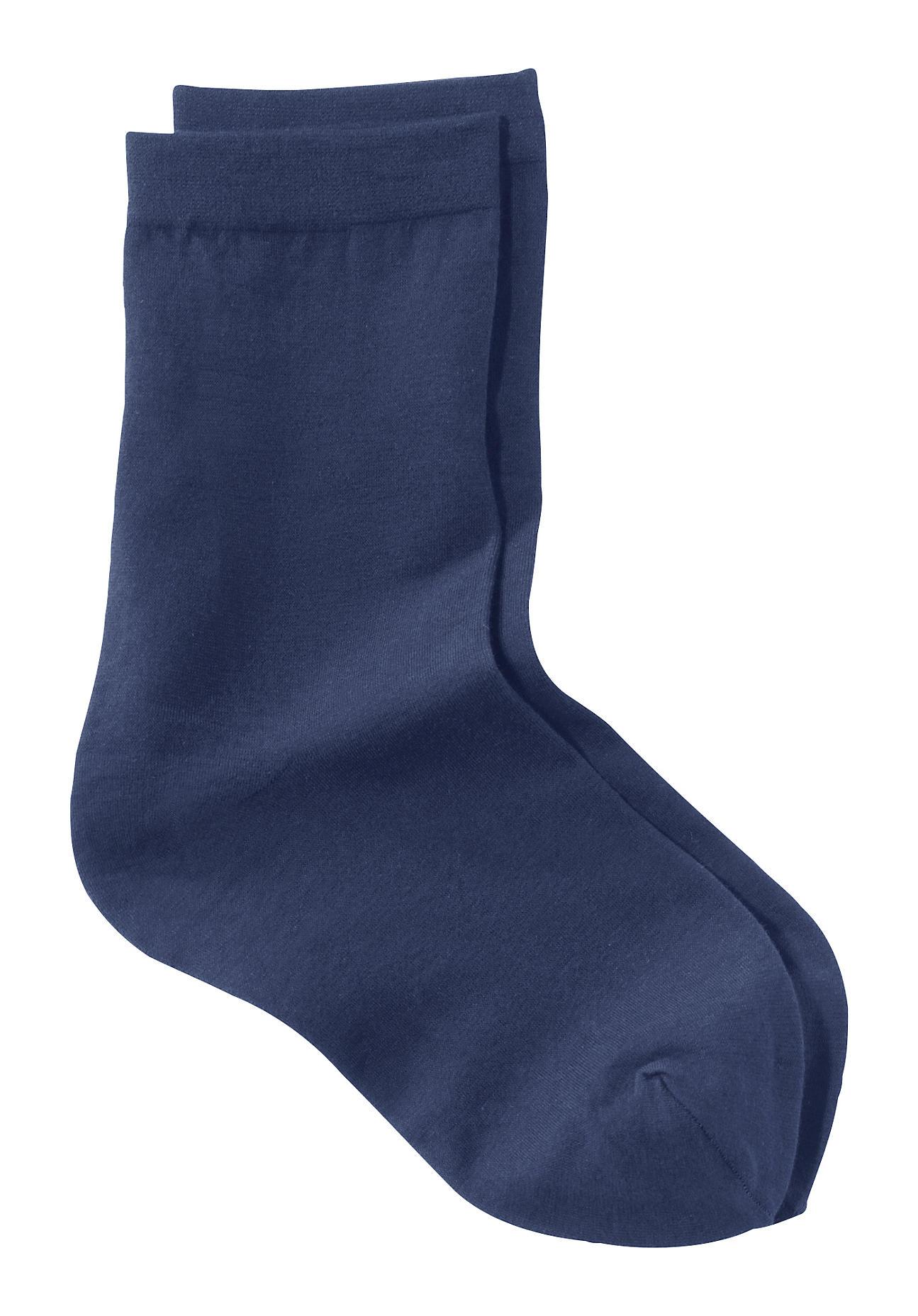 hessnatur Feinstrumpfsocke aus Bio Baumwolle – blau – Größe 38 39