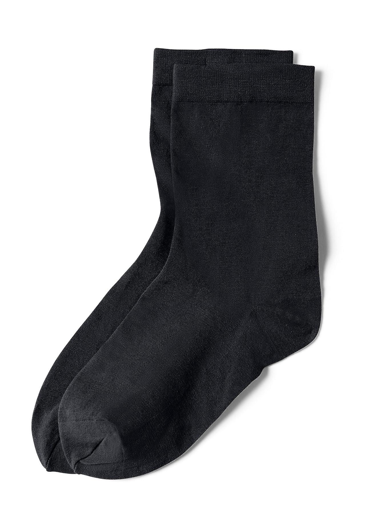 Socken für Frauen - hessnatur Feinstrumpfsocke aus Bio Baumwolle – schwarz –  - Onlineshop Hessnatur