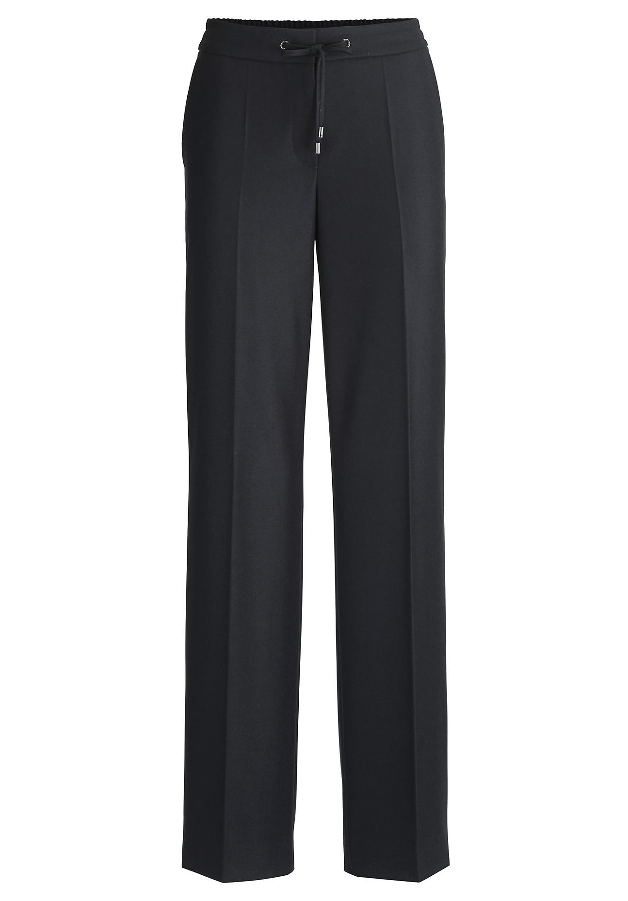 Hosen für Frauen - hessnatur Damen Flanell Hose aus Schurwolle – blau –  - Onlineshop Hessnatur