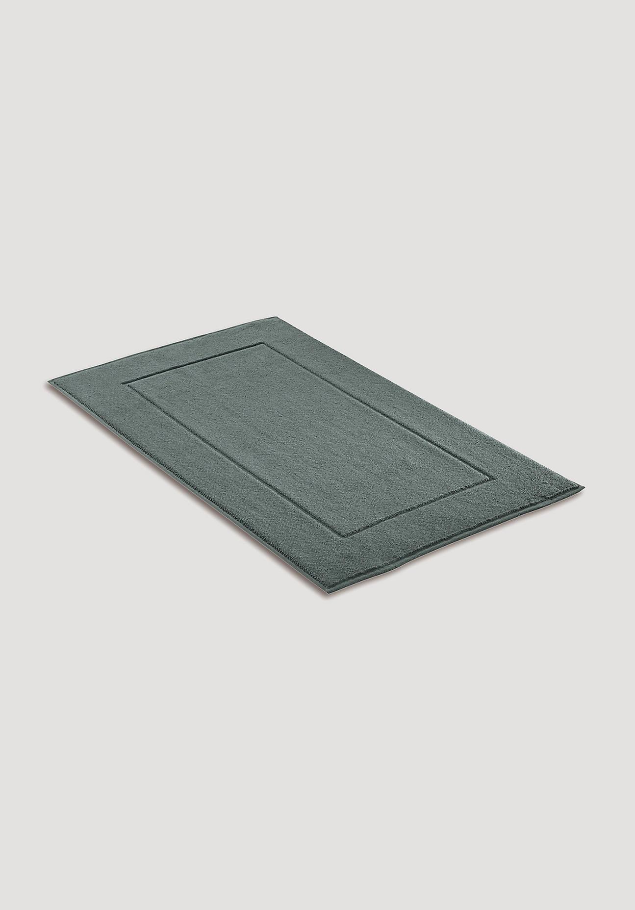 hessnatur Frottee-Badematte aus Bio-Baumwolle – grün – Größe 60x100 cm