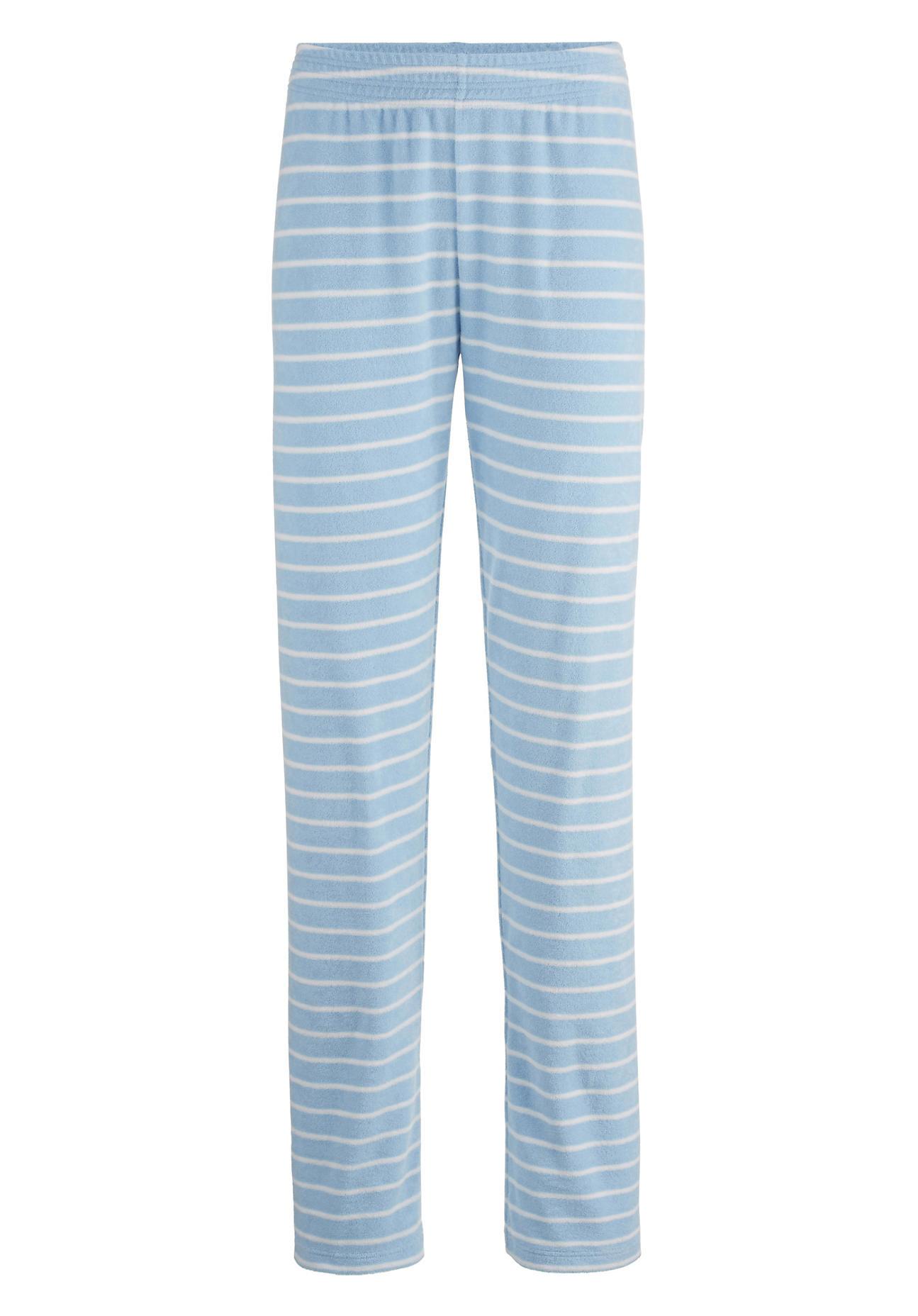 hessnatur Damen Frottee-Hose aus Bio-Baumwolle – blau – Größe 48