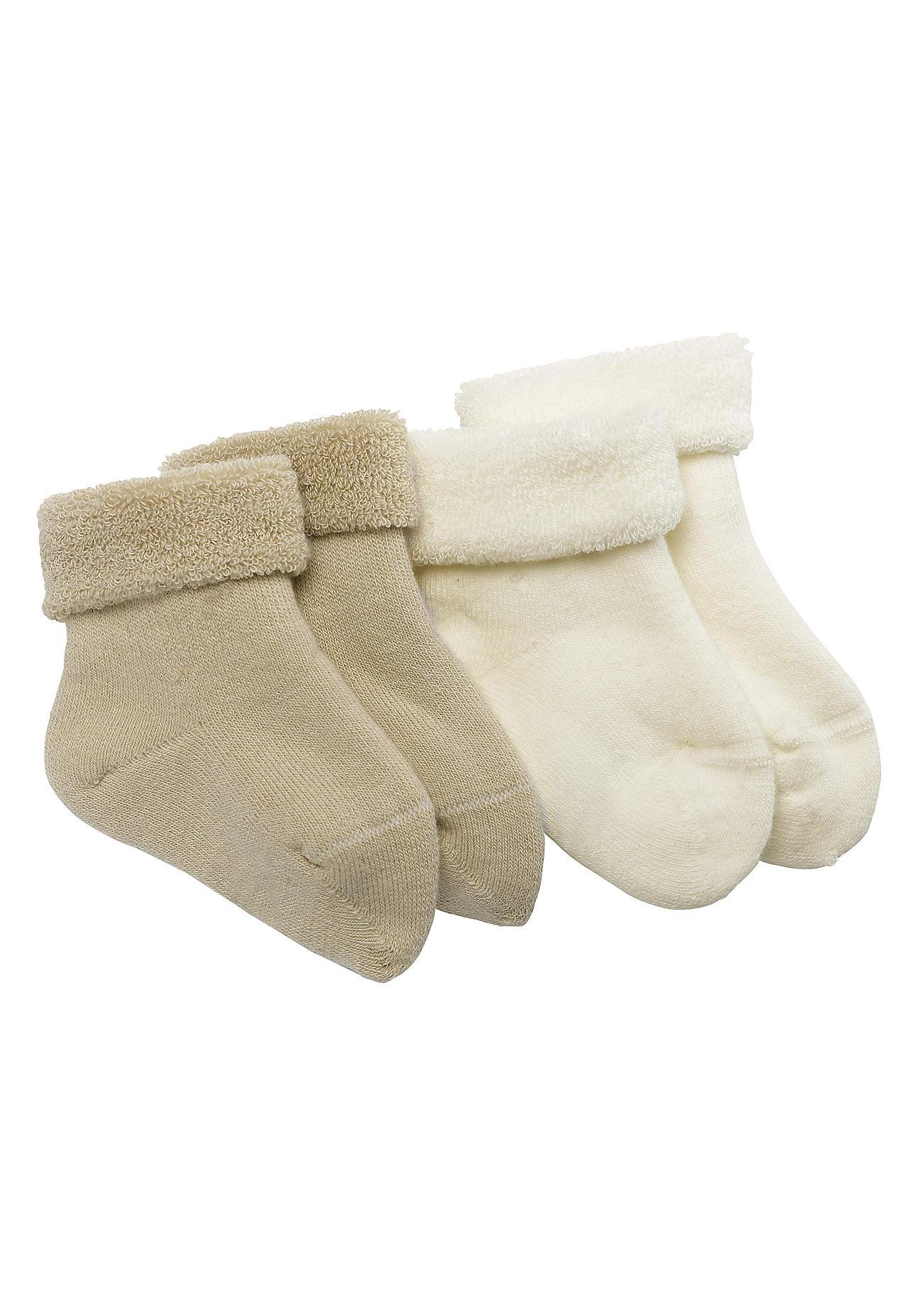 hessnatur Baby Frottee-Socke im aus Bio-Baumwolle – beige – Größe 23-26