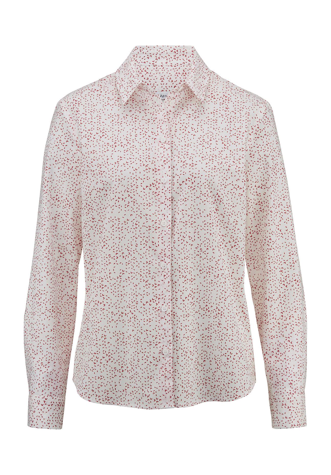 hessnatur Damen Hemdbluse aus Bio-Baumwolle – rot – Größe 42