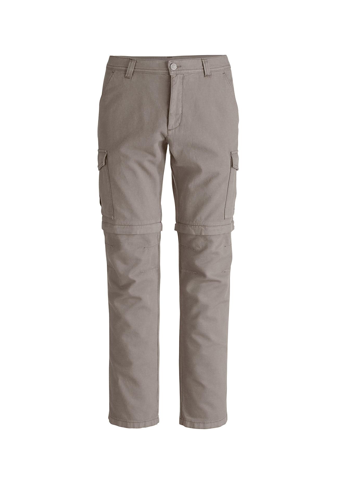 hessnatur Herren-Outdoor Herren Cargohose aus Bio-Baumwolle mit Leinen – grau – Größe 56 | Bekleidung > Hosen > Cargohosen | Steingrau | Baumwolle - Leinen | hessnatur
