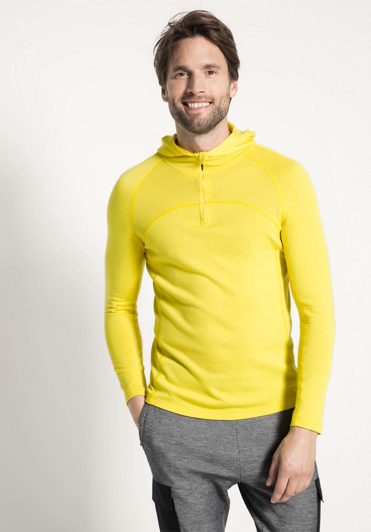 Sweatshirt aus Bio Baumwolle mit Bio Merinowolle hessnatur