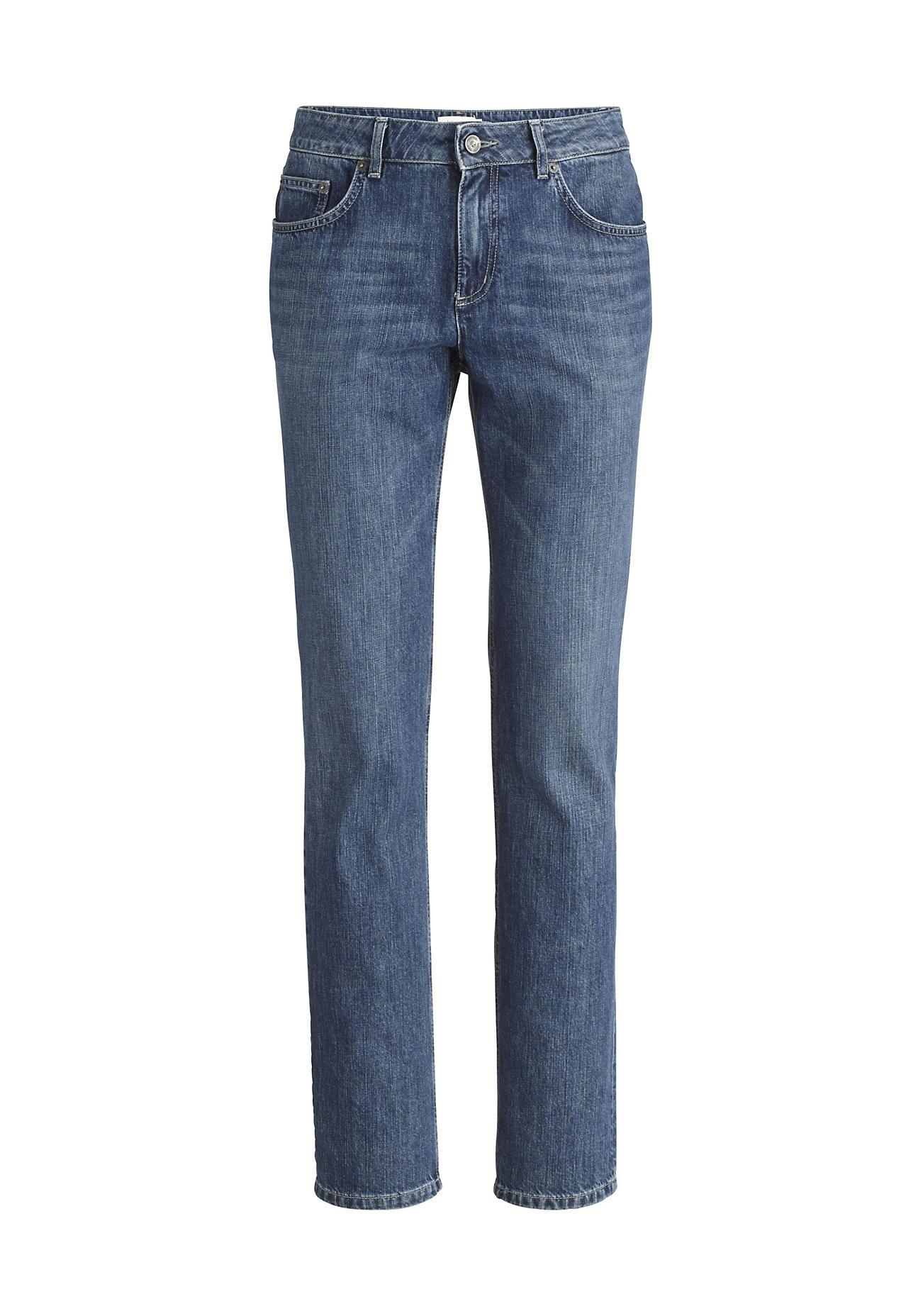 hessnatur Herren Jeans Straight Fit aus Bio-Denim – blau – Größe 40/34