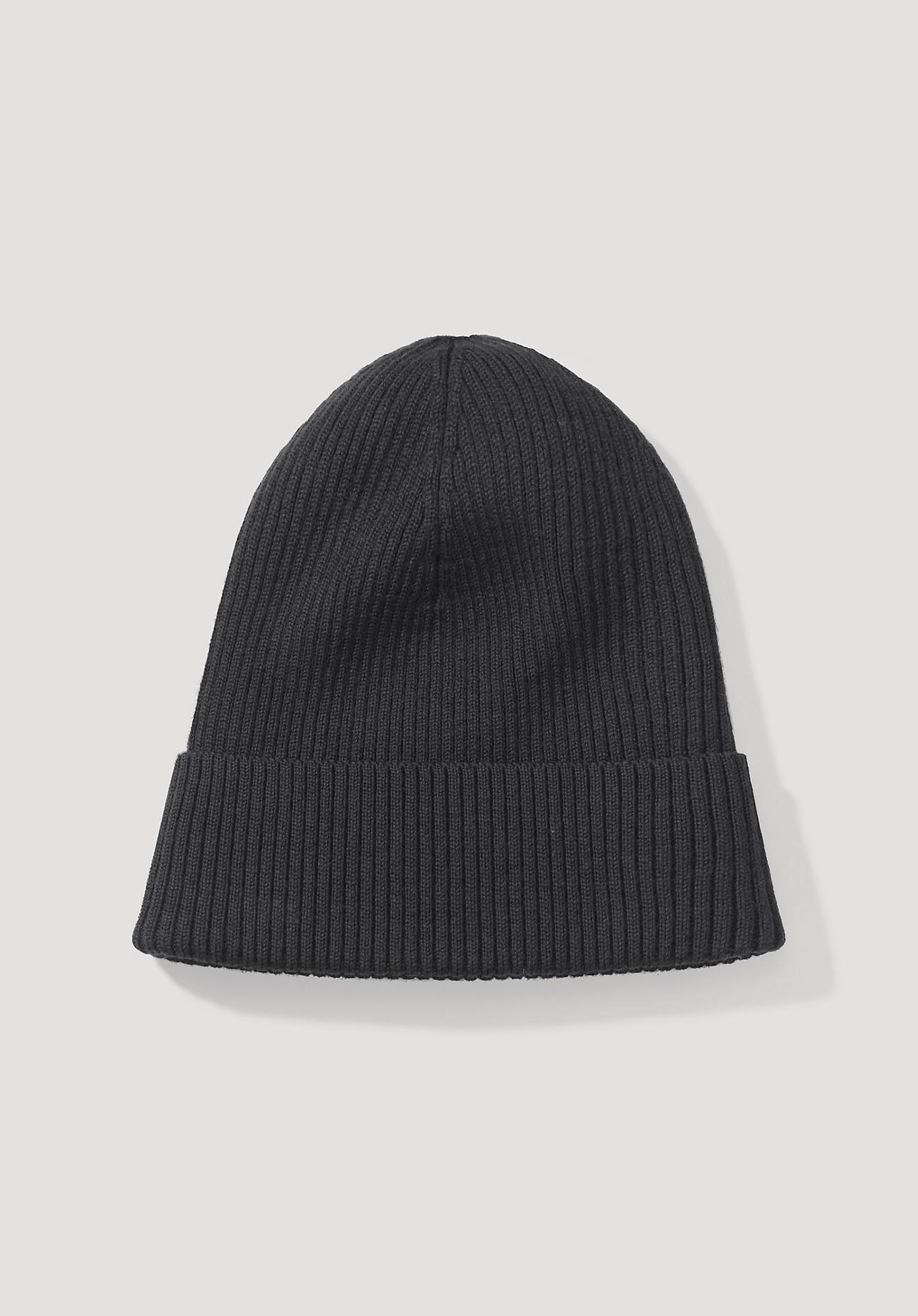 hessnatur Herren Mütze aus Merinowolle – grau – Größe 21,5x21,5 cm