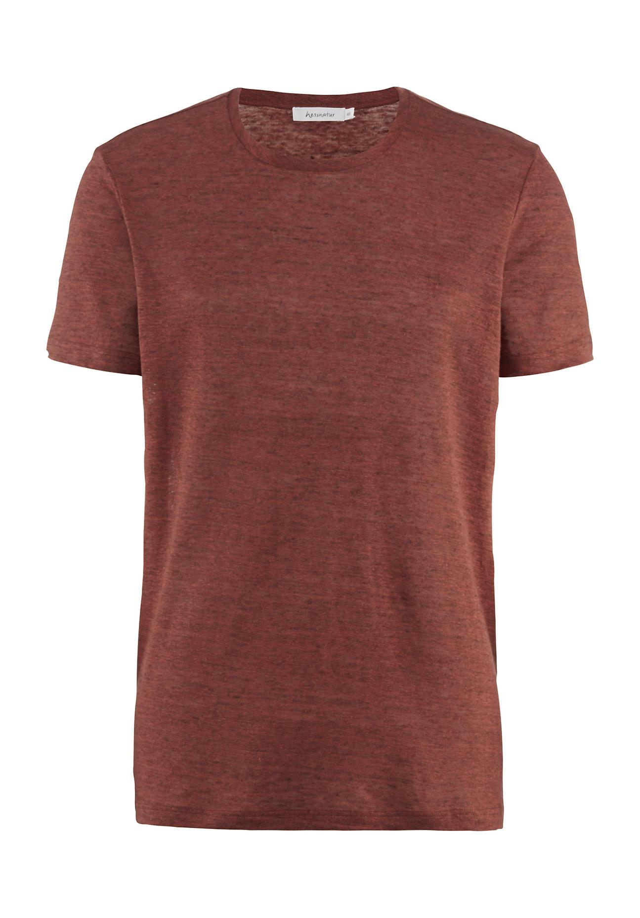 hessnatur Herren Shirt aus Leinen – blau – Größe 50