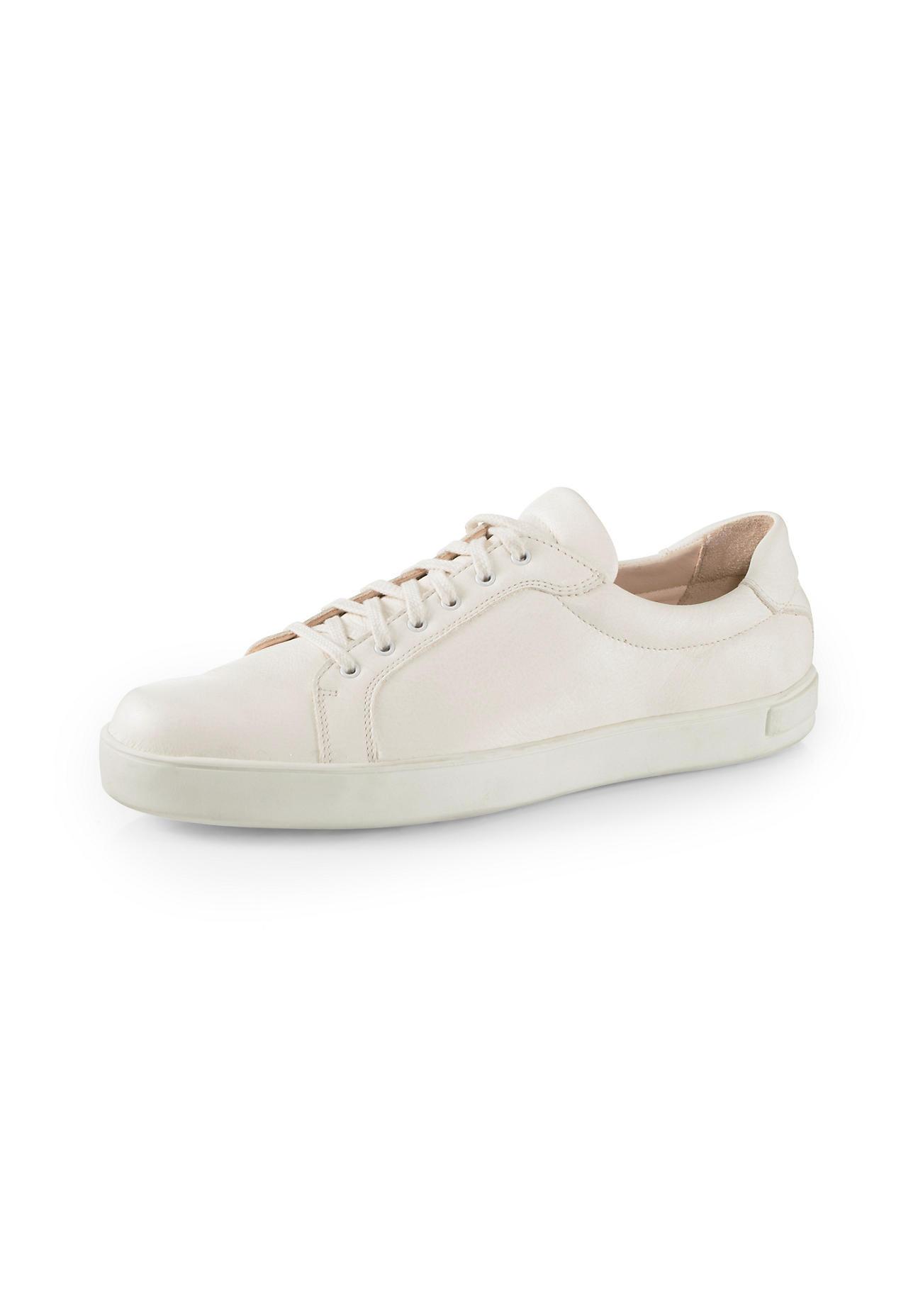 hessnatur Herren Herren Sneaker aus Leder – naturfarben – Größe 44