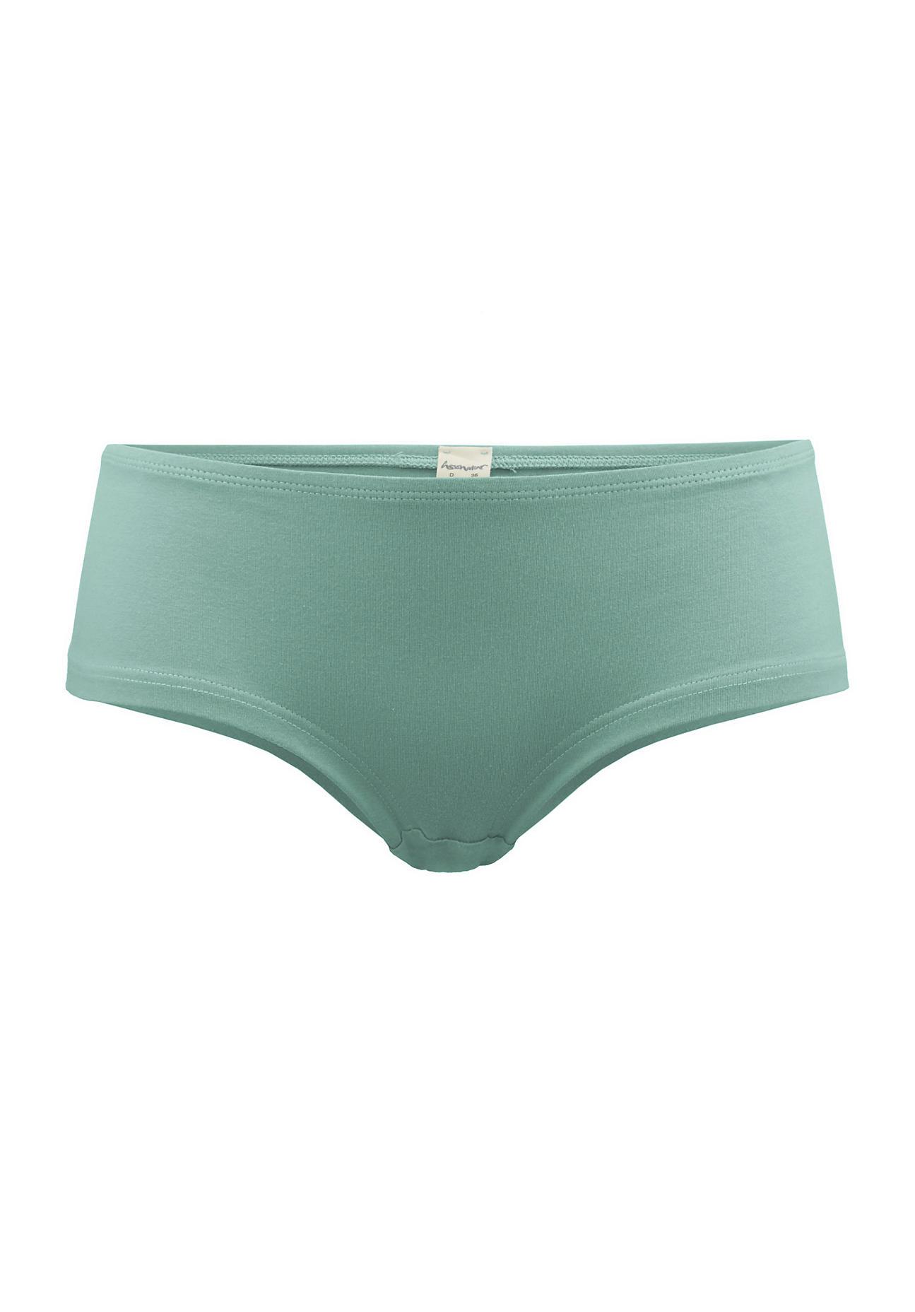 hessnatur Damen Hipster PureLUX aus Bio Baumwolle – grün – Größe 38