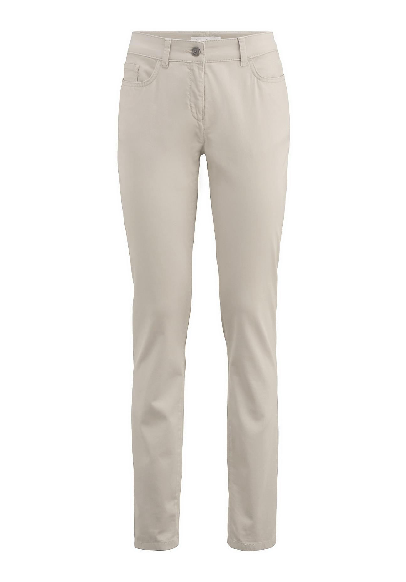 Hosen für Frauen - hessnatur Damen Hose Slim Fit aus Bio Baumwolle – beige –  - Onlineshop Hessnatur