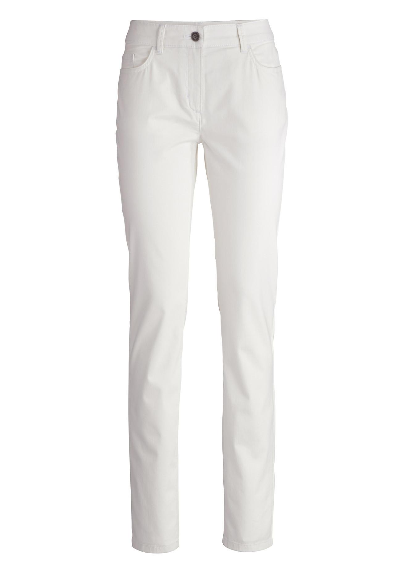 Hosen für Frauen - hessnatur Damen Hose Slim Fit aus Bio Baumwolle – weiß –  - Onlineshop Hessnatur