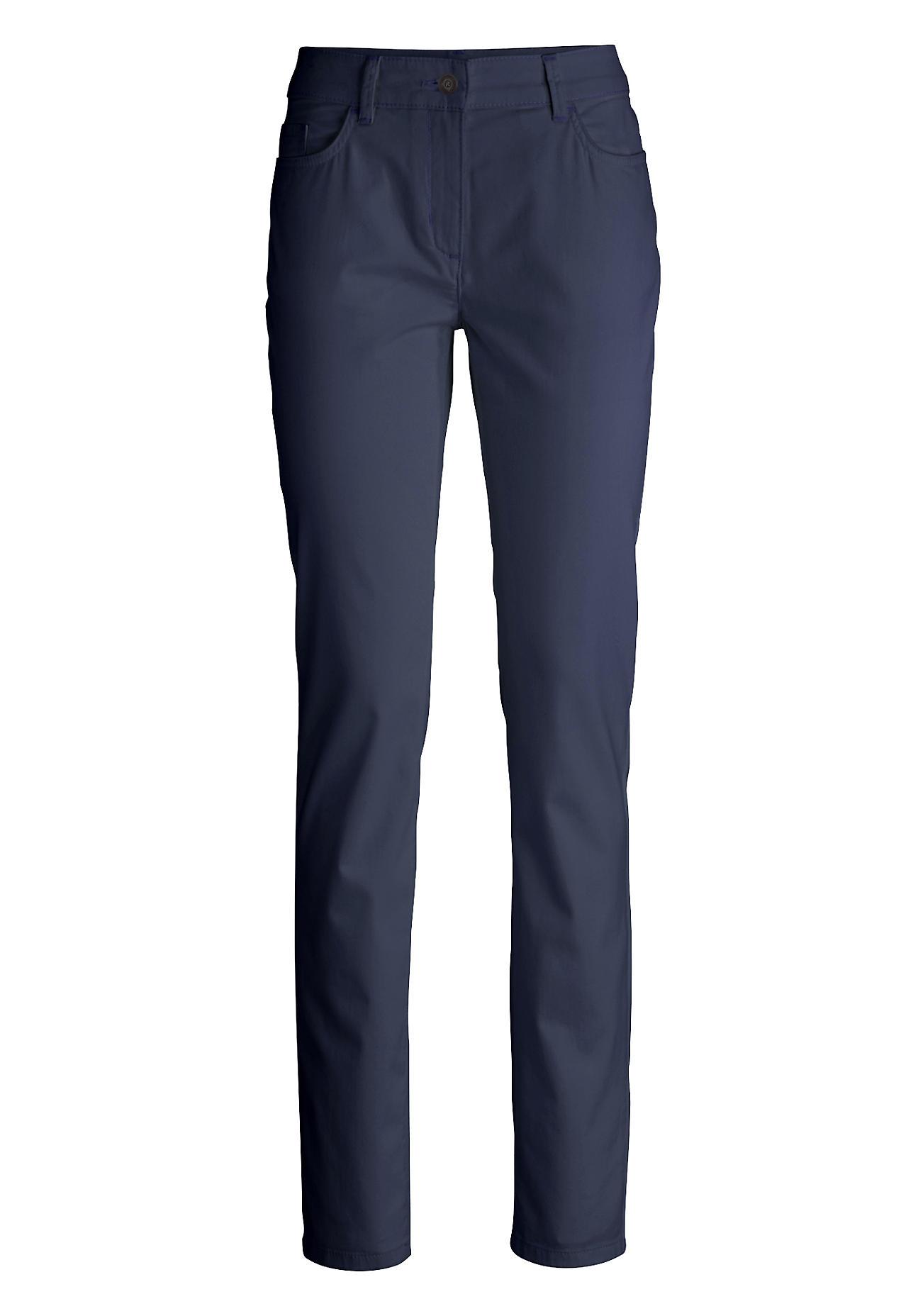 Hosen - hessnatur Damen Hose Slim Fit aus Bio Baumwolle – blau –  - Onlineshop Hessnatur