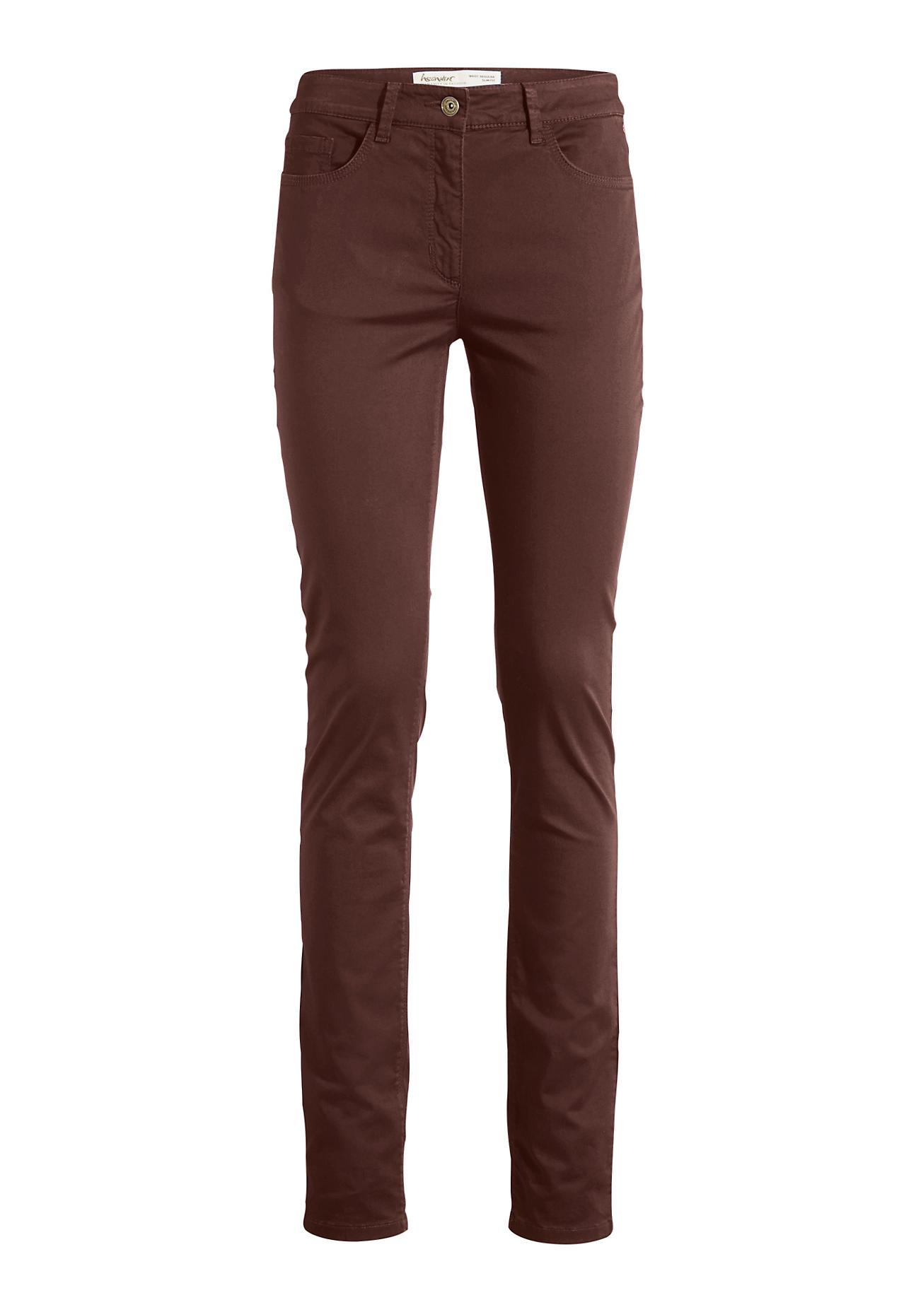Hosen für Frauen - hessnatur Damen Hose Slim Fit aus Bio Baumwolle – rot –  - Onlineshop Hessnatur