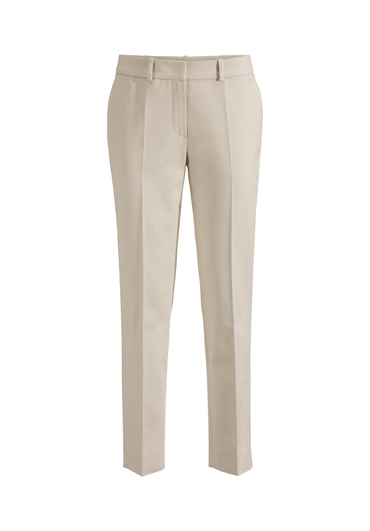 Hosen für Frauen - hessnatur Damen Hose aus Bio Baumwolle – beige –  - Onlineshop Hessnatur