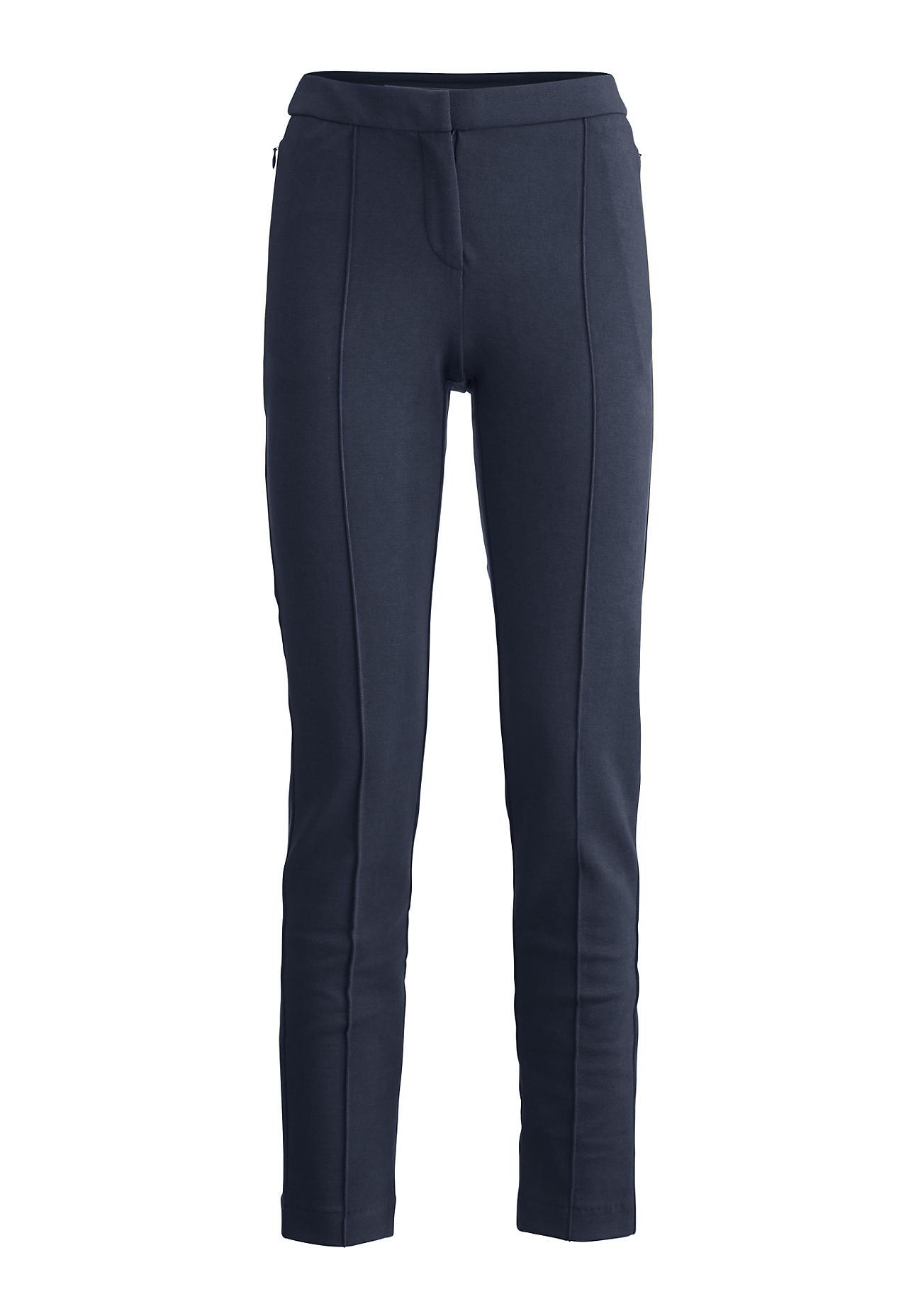 hessnatur Damen Hose aus Bio Baumwolle – blau – Größe 38