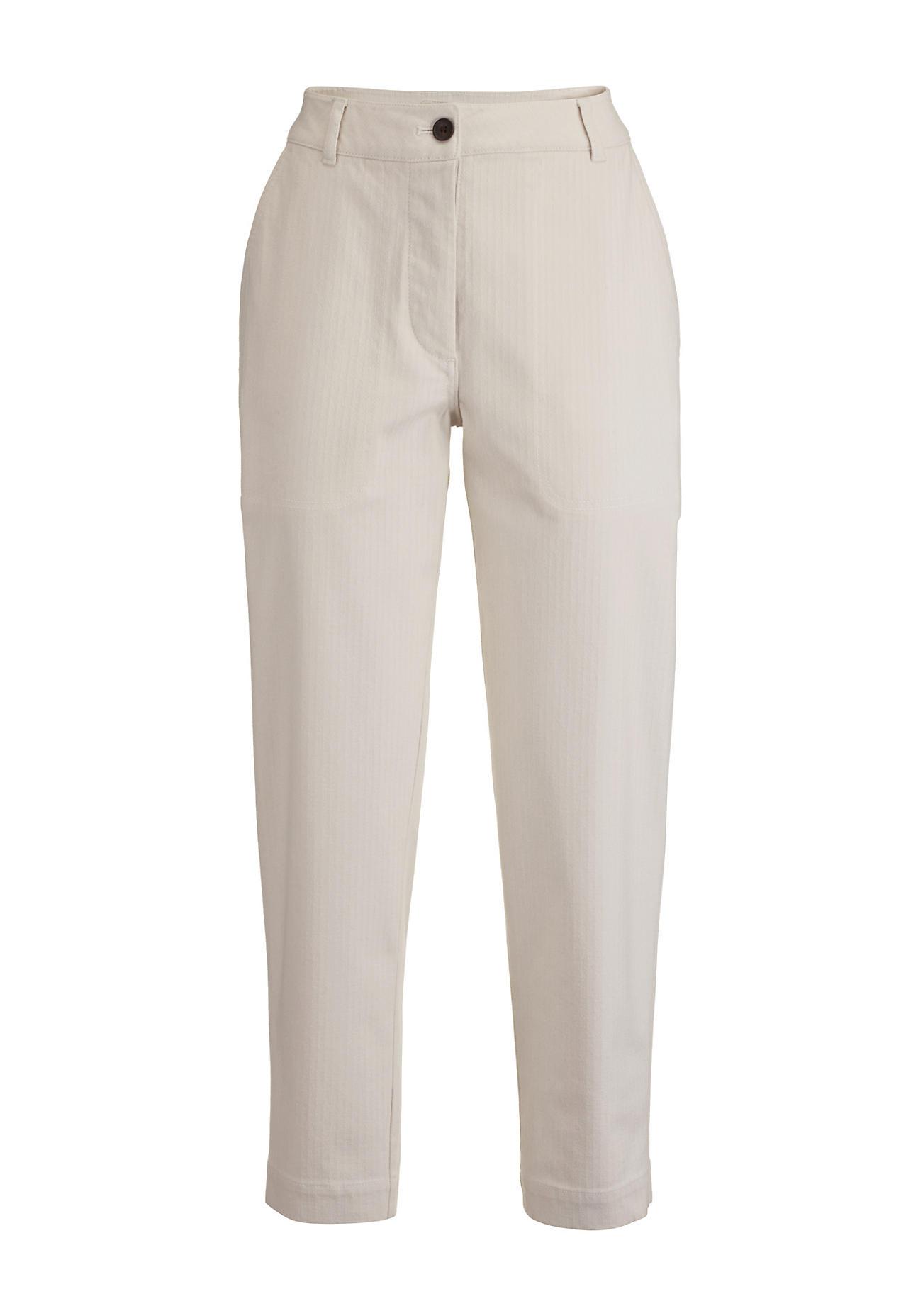 Hosen - hessnatur Damen Hose aus Bio Baumwolle – beige –  - Onlineshop Hessnatur