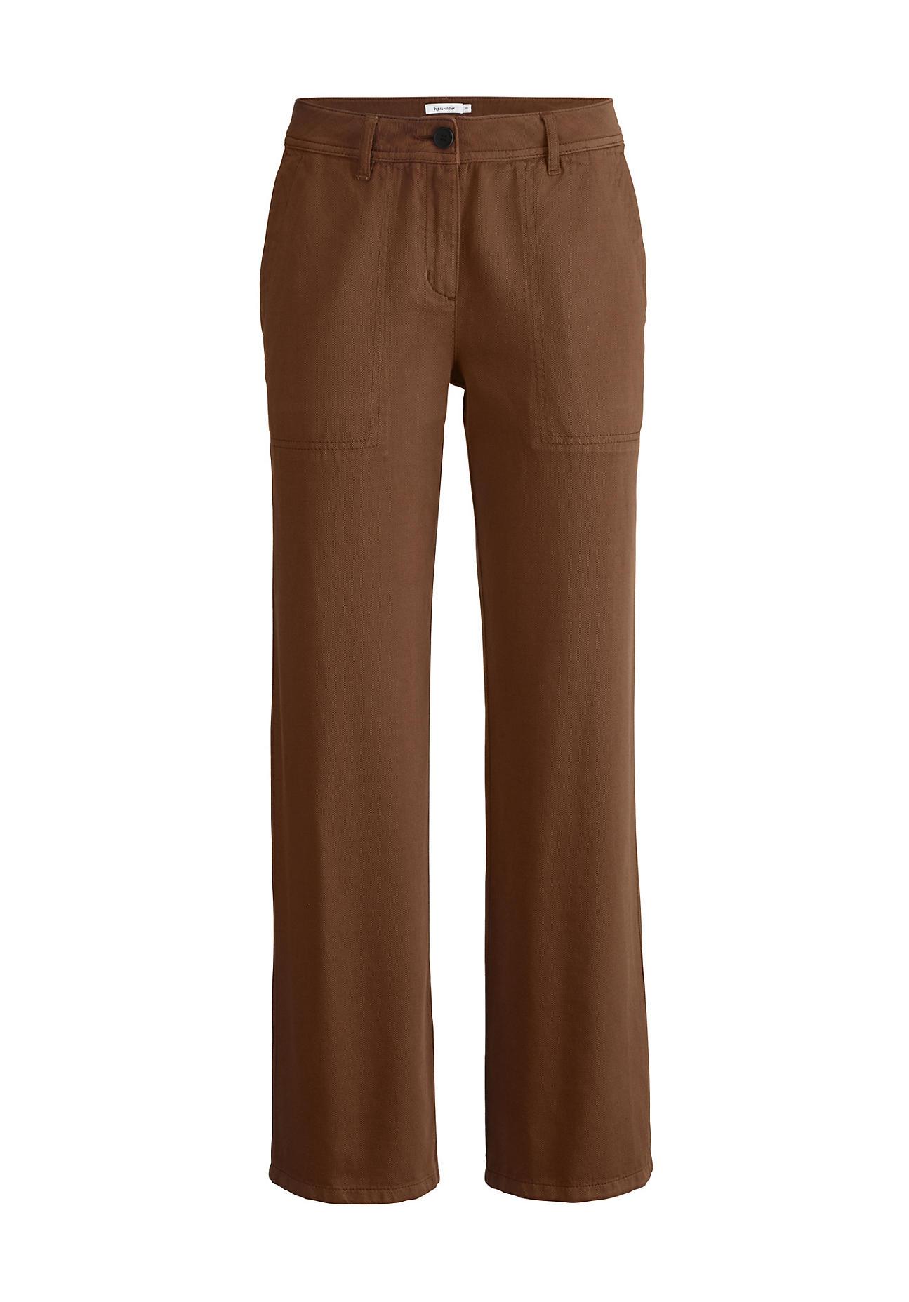 Hosen für Frauen - hessnatur Damen Hose aus Bio Baumwolle mit Leinen – braun –  - Onlineshop Hessnatur