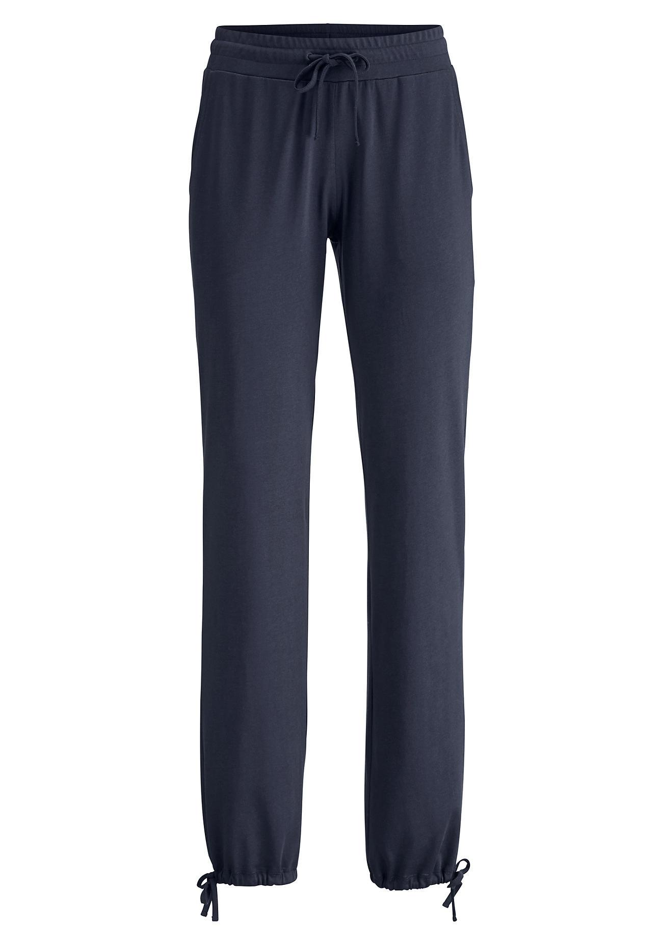 hessnatur Loungewear Hose aus Bio-Baumwolle und TENCEL™Modal – blau – Größe 40