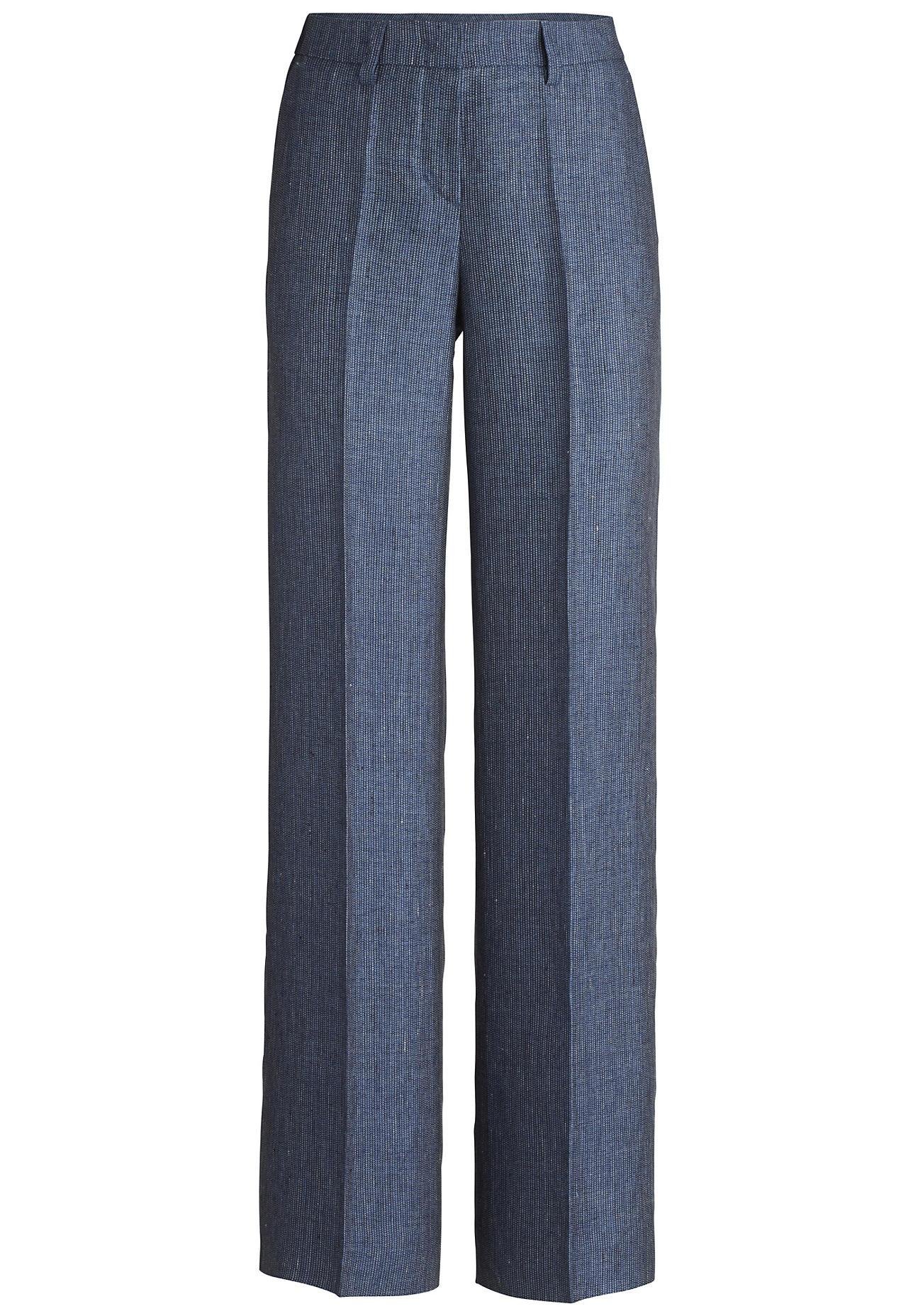 Hosen für Frauen - hessnatur Damen Hose aus Bio Leinen – blau –  - Onlineshop Hessnatur