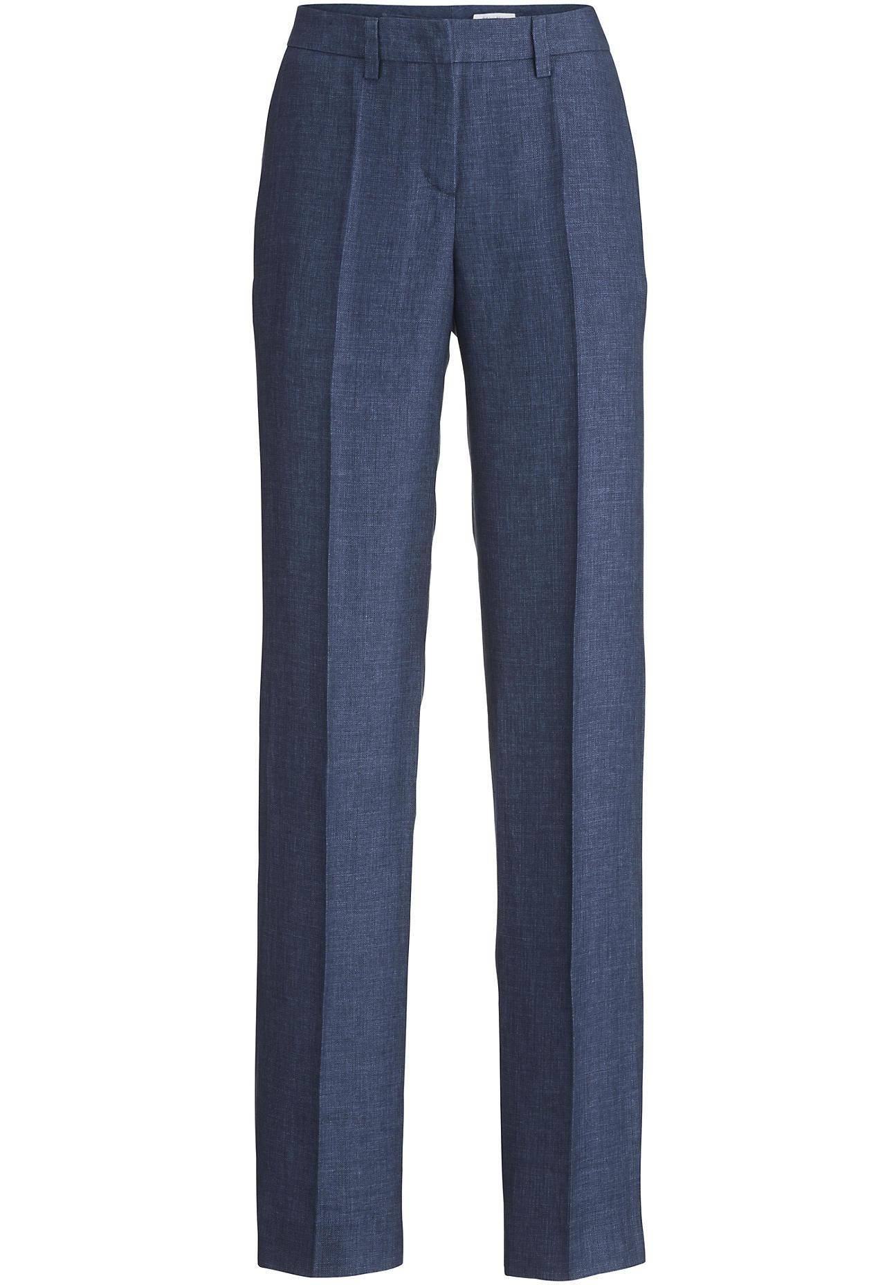 hessnatur Damen Hose aus Leinen – blau – Größe 38