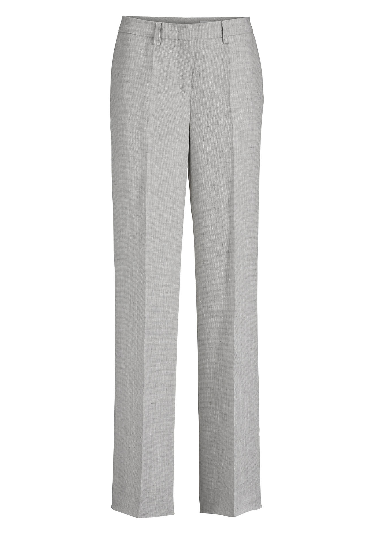 Hosen für Frauen - hessnatur Damen Hose aus Leinen – grau –  - Onlineshop Hessnatur