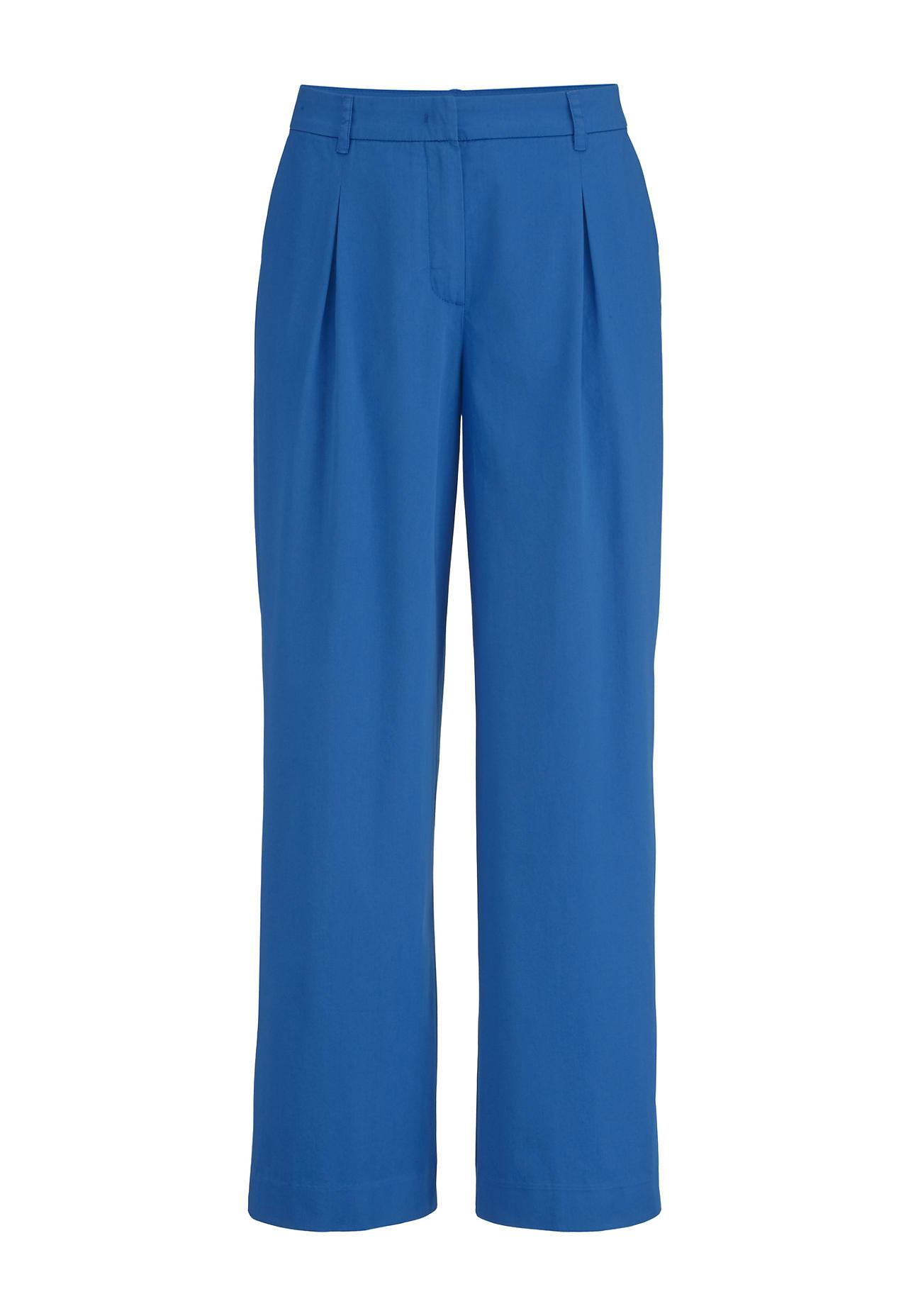 Hosen - hessnatur Damen Hose aus Bio Baumwolle – blau –  - Onlineshop Hessnatur
