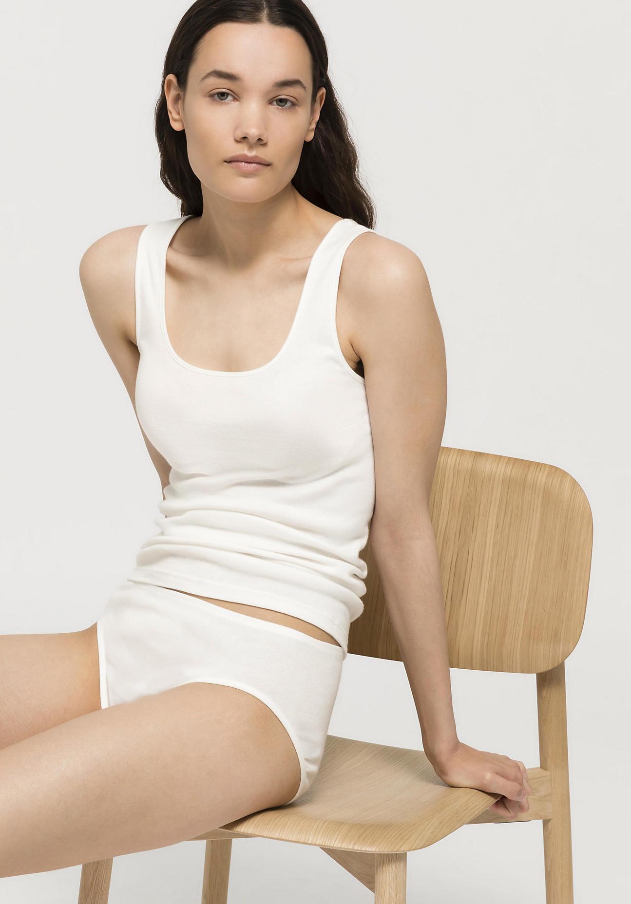 hessnatur Damen Hüftslip PureDAILY im 2er-Set aus Bio-Baumwolle - weiß Größe 36