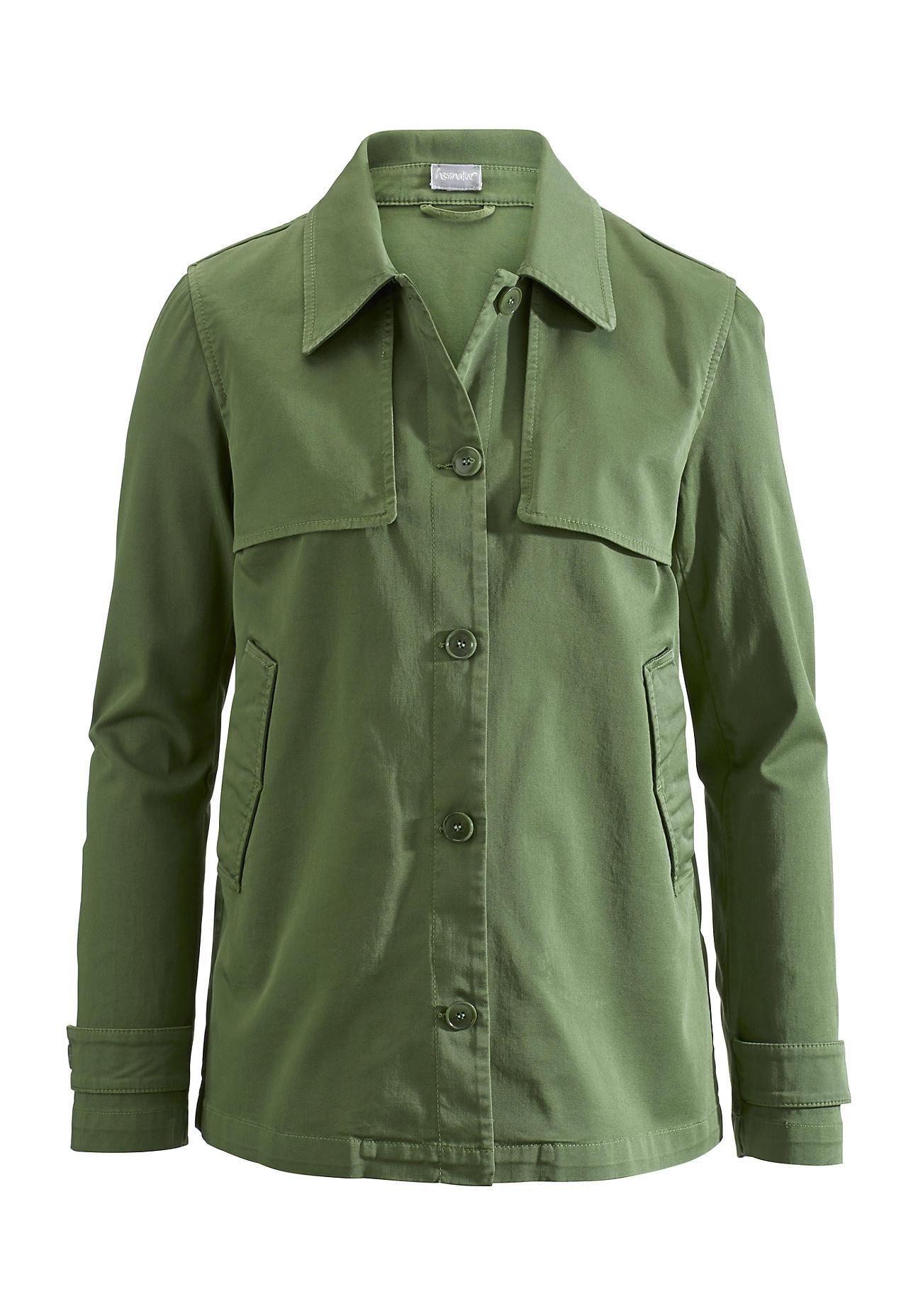 Jacken für Frauen - hessnatur Damen Jacke aus Bio Baumwolle – grün –  - Onlineshop Hessnatur