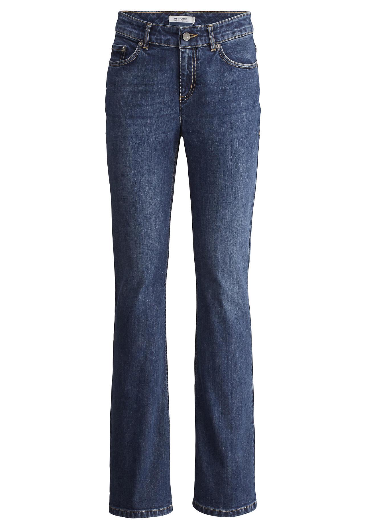 Hosen - hessnatur Damen Jeans Bootcut aus Bio Denim – blau –  - Onlineshop Hessnatur