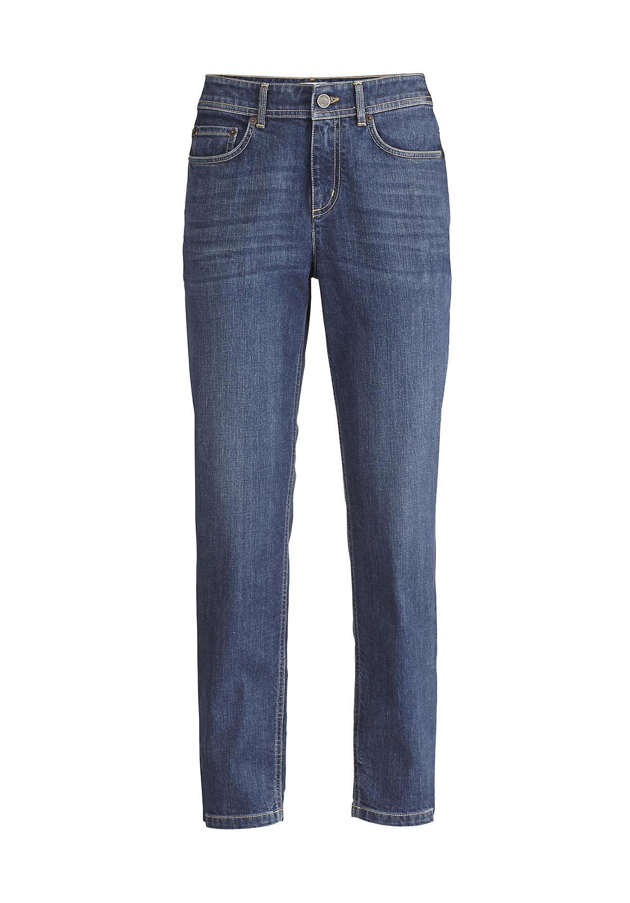 hessnatur Damen Jeans Boyfriend Fit aus Bio-Denim – blau – Größe 36/32