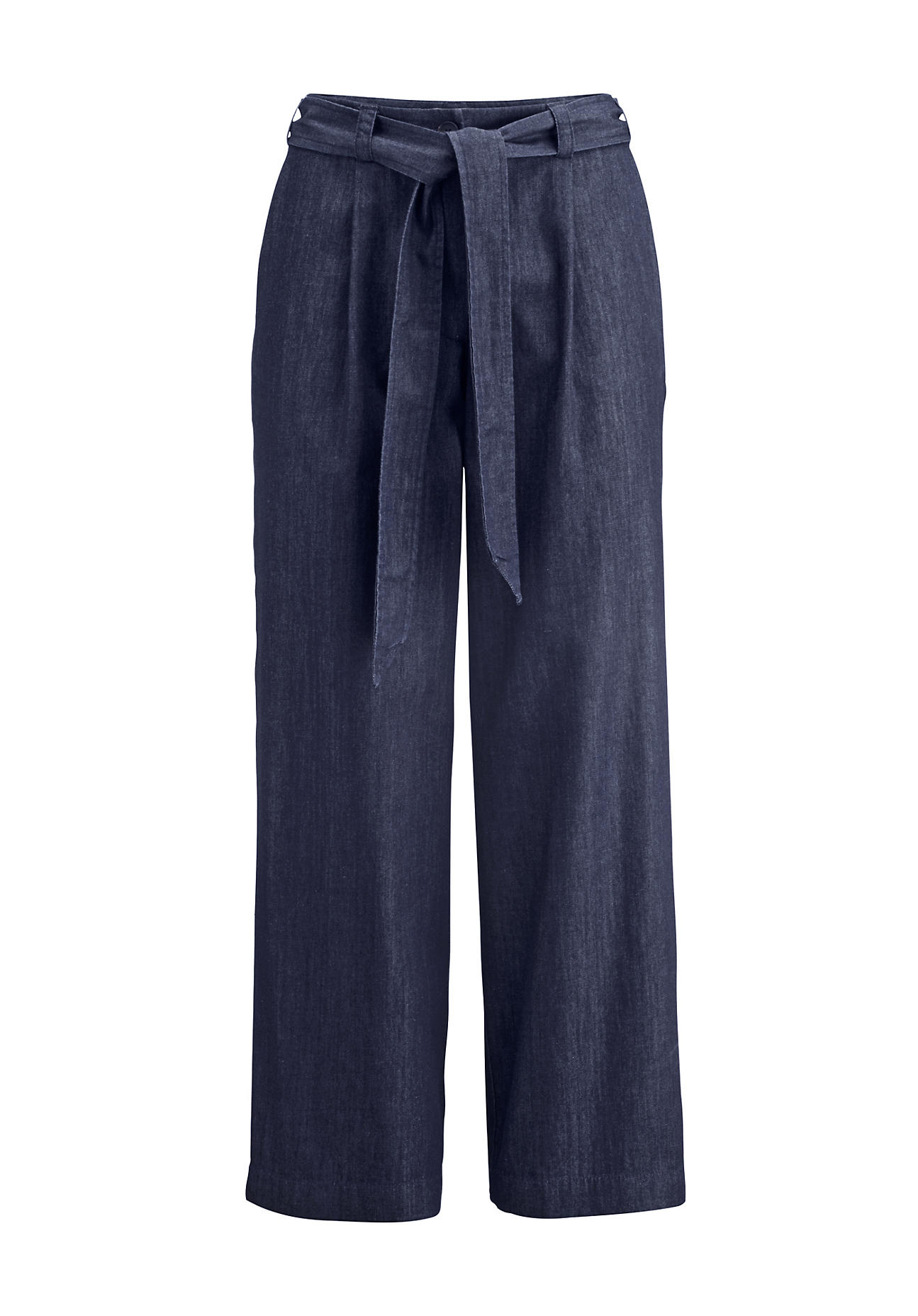 Hosen - hessnatur Damen Jeans Culotte – blau –  - Onlineshop Hessnatur
