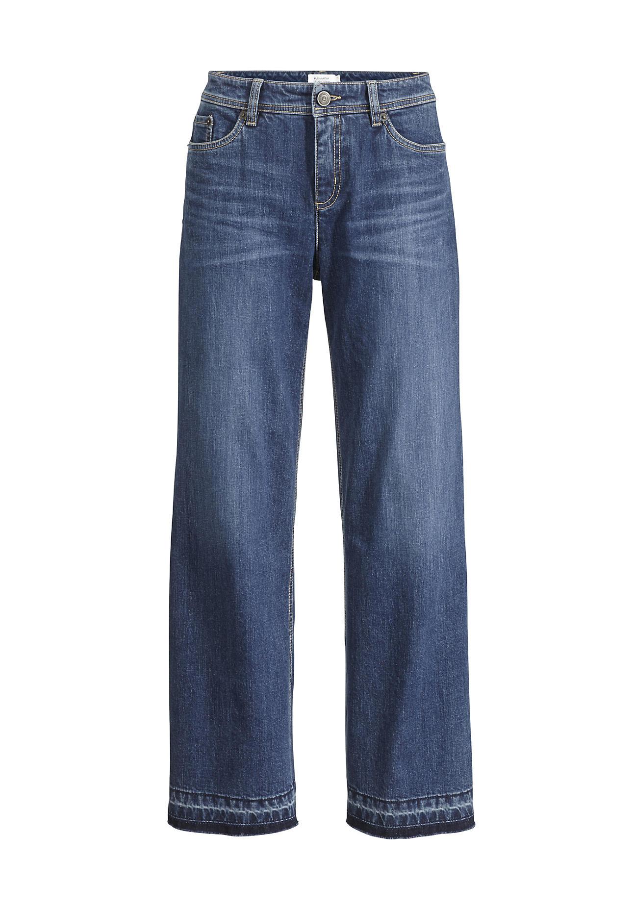 Hosen für Frauen - hessnatur Damen Jeans Culotte aus Bio Baumwolle – blau –  - Onlineshop Hessnatur