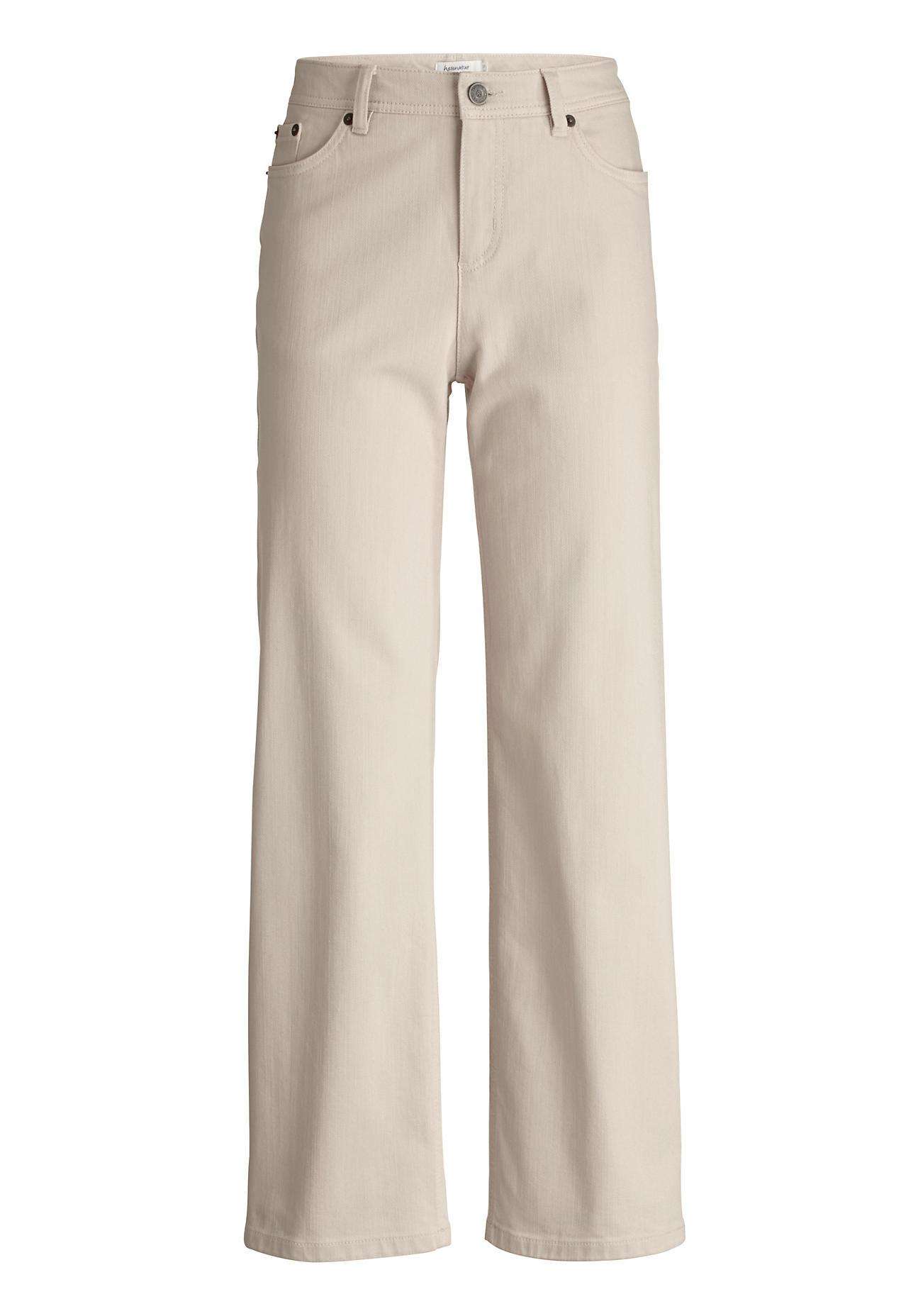Hosen für Frauen - hessnatur Damen Jeans Culotte aus Bio Baumwolle – beige –  - Onlineshop Hessnatur