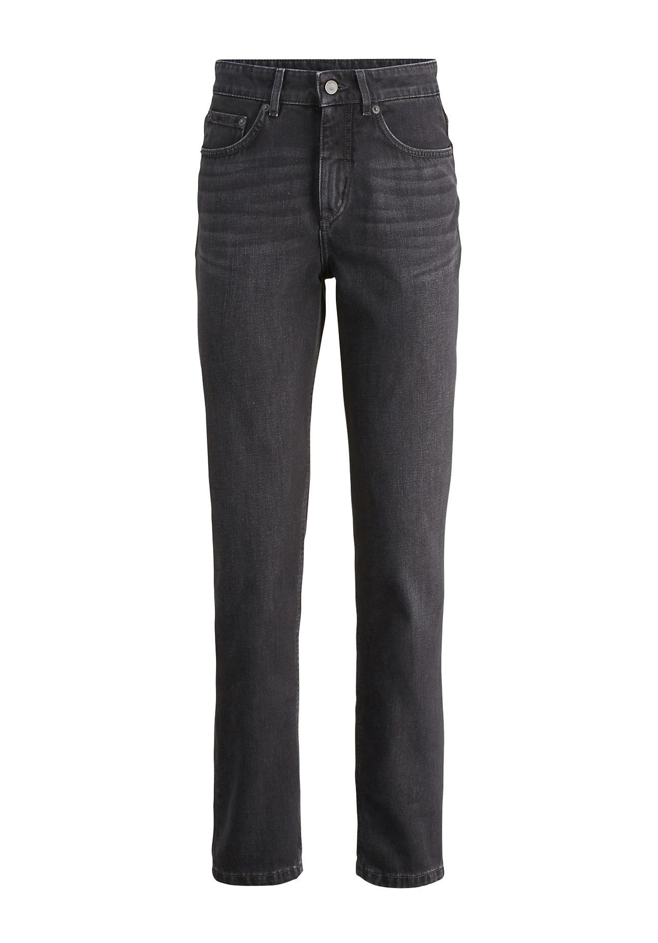 hessnatur Damen Jeans Hanna Mom Fit aus Bio-Denim – grau – Größe 26/32