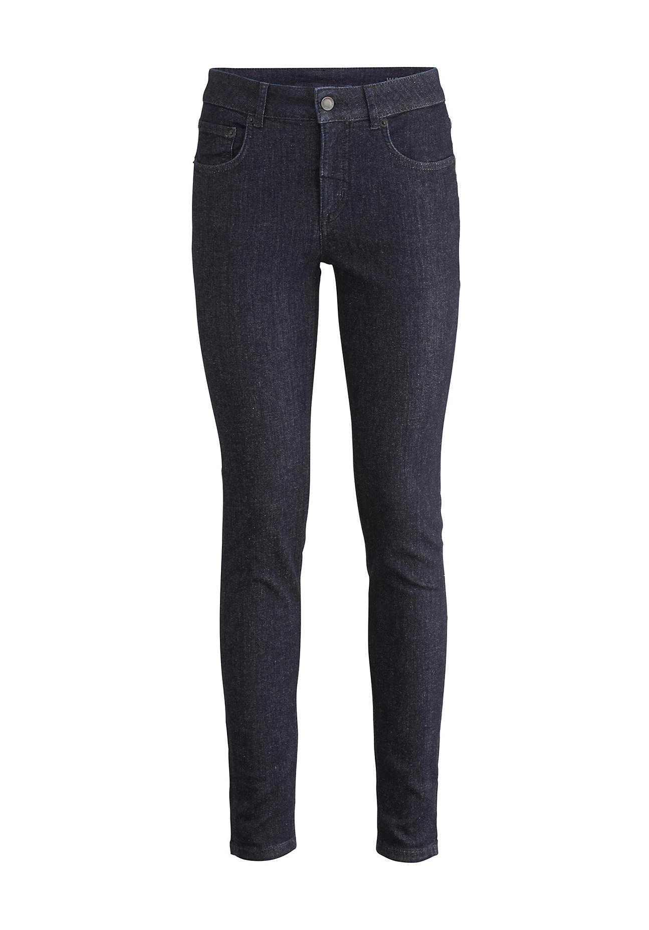 hessnatur Damen Jeans Lina Skinny Fit aus Bio-Denim – blau – Größe 26/30