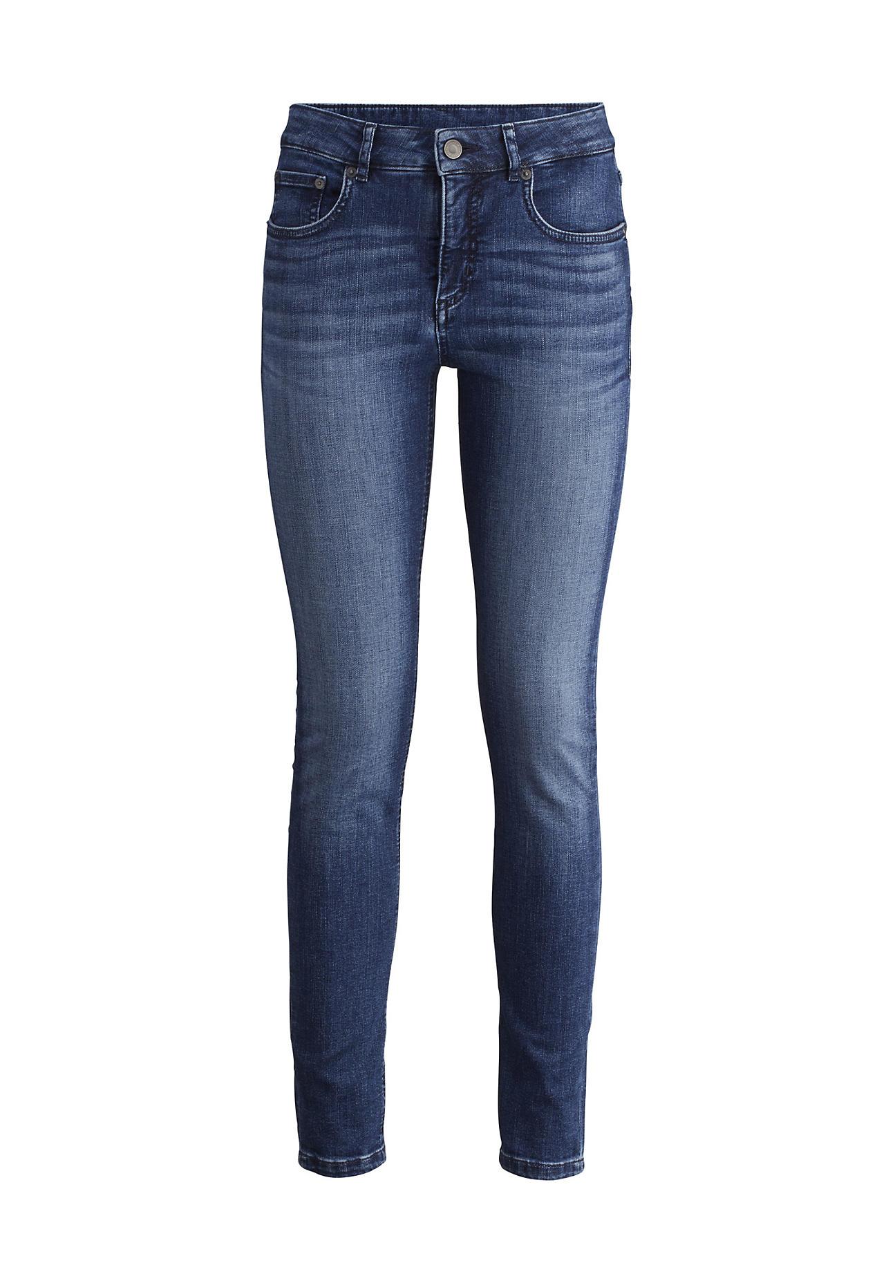 hessnatur Damen Jeans Lina Skinny Fit aus Bio-Denim – blau – Größe 26/32