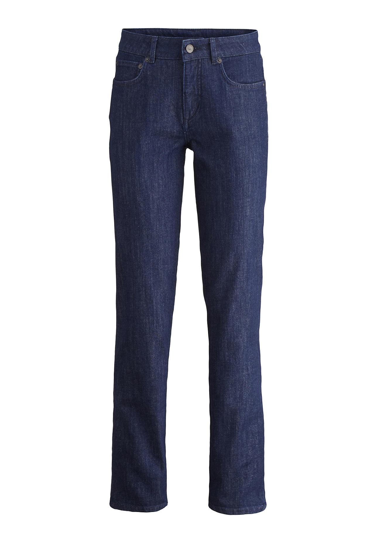 hessnatur Damen Jeans Marie Straight Fit aus Bio-Denim – blau – Größe 26/30