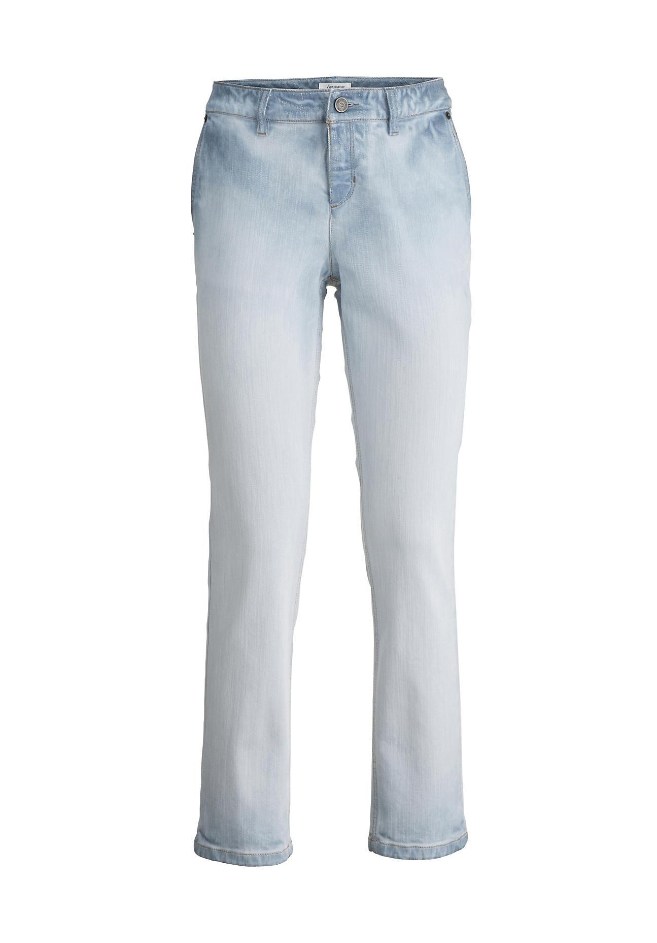 hessnatur Damen Jeans Relaxed Fit aus Bio Baumwolle – blau – Größe 38 32