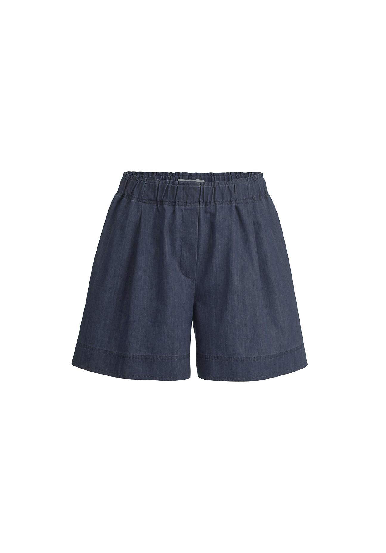 Hosen - hessnatur Damen Jeans Shorts aus Bio Denim – blau –  - Onlineshop Hessnatur