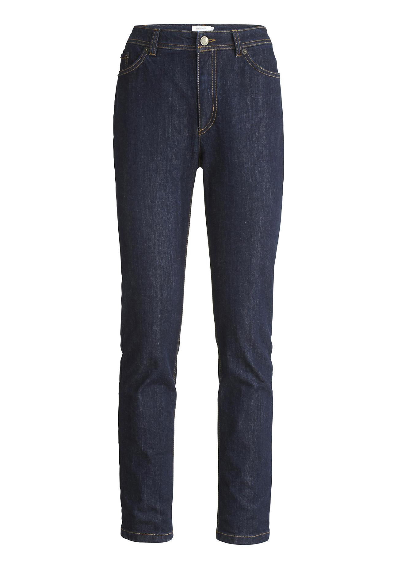 Hosen für Frauen - hessnatur Damen Jeans Slim Fit Mid Waist aus Bio Denim – blau –  - Onlineshop Hessnatur