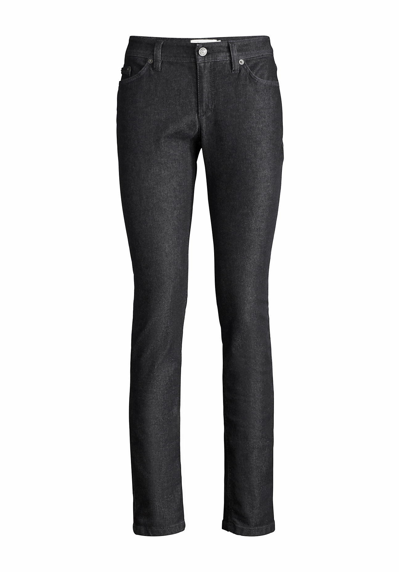 hessnatur Damen Jeans Slim Fit aus Bio-Denim – schwarz – Größe 26/32